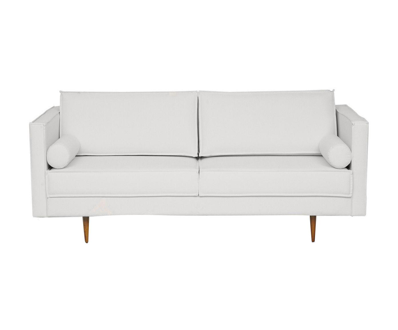 Sofá em Linho Audrey Cotton Cru - 180X85X90cm | Westwing.com.br