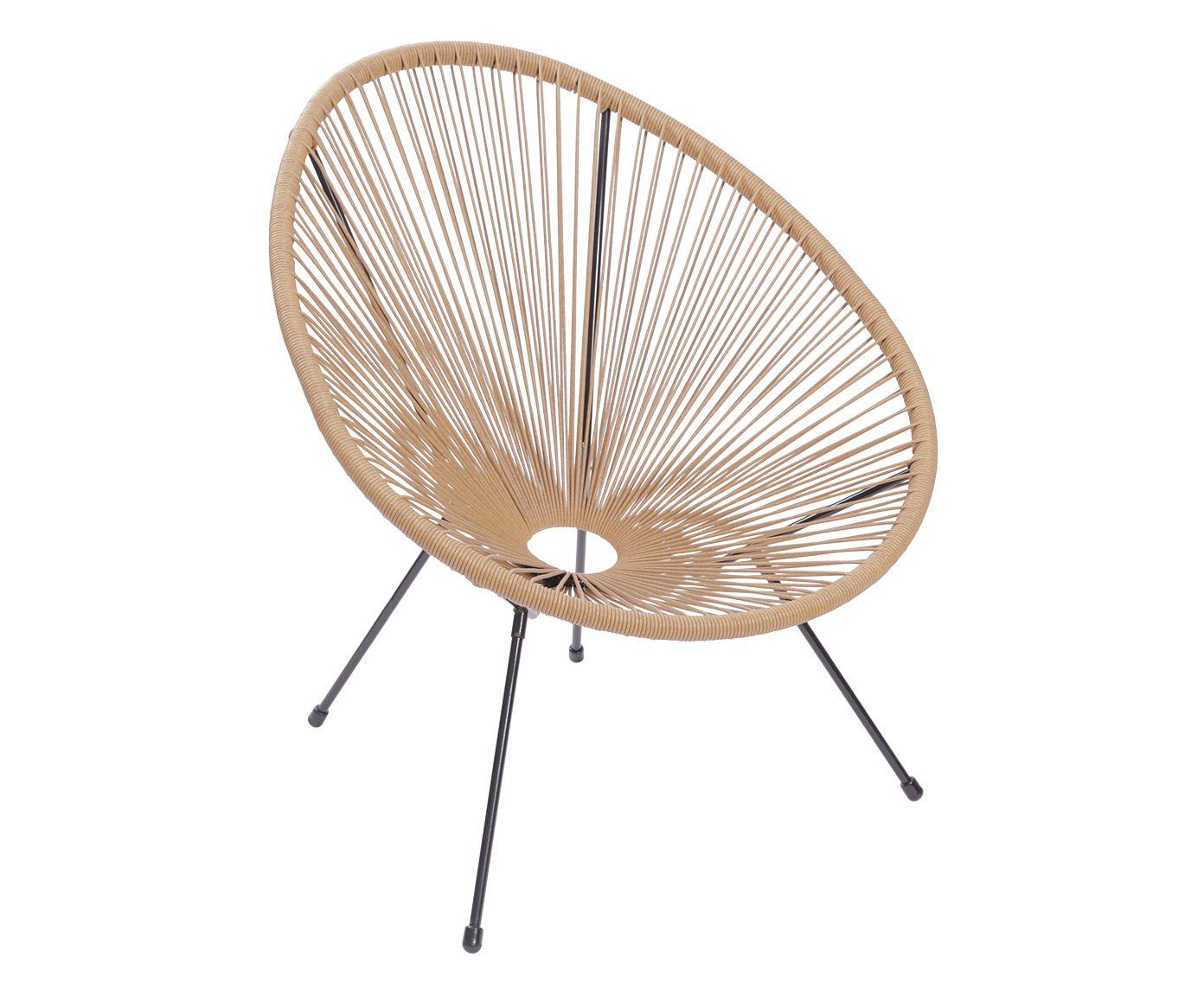 Cadeira Acapulco Bege - 69X85X50cm | Westwing.com.br