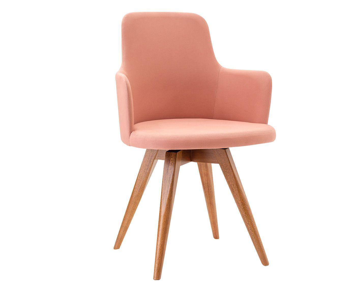 Cadeira Giratória Tina Rosa - 53X86X55cm | Westwing.com.br