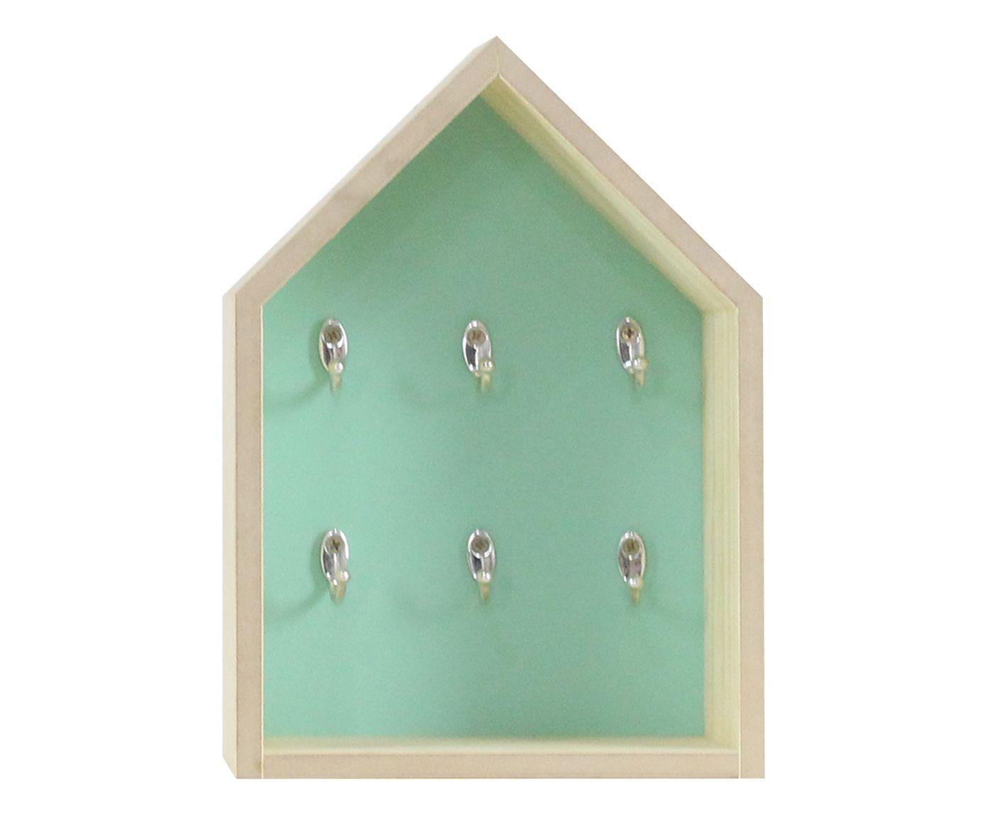 Chaveiro Casa Verde Celadon - 25X36X10   Westwing.com.br