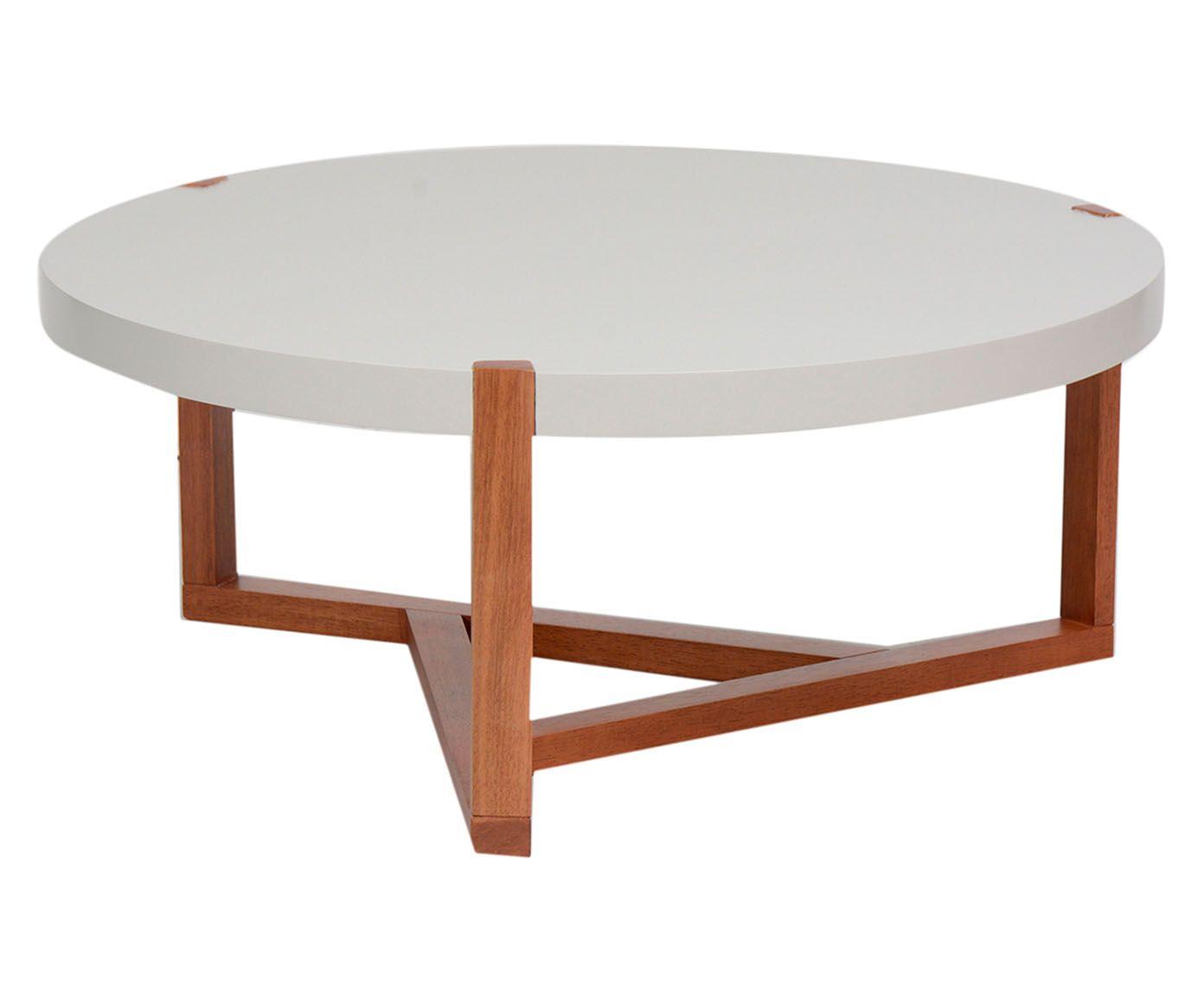 Mesa de Centro Geometric Branca - 82cm | Westwing.com.br