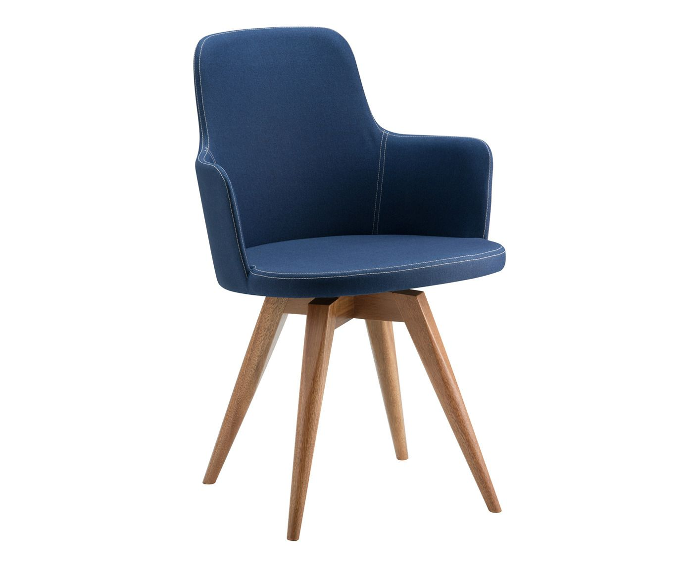 Cadeira Giratória Tina Azul Marinho - 53X86X55cm   Westwing.com.br