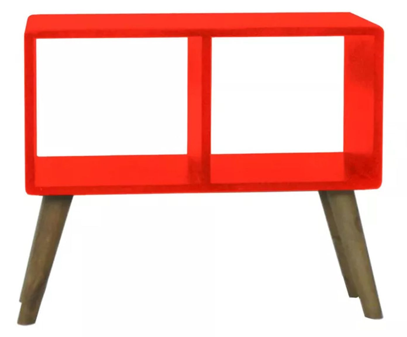 Mesa Lateral Retrô Senise Ging Vermelha - 58X50X27cm | Westwing.com.br