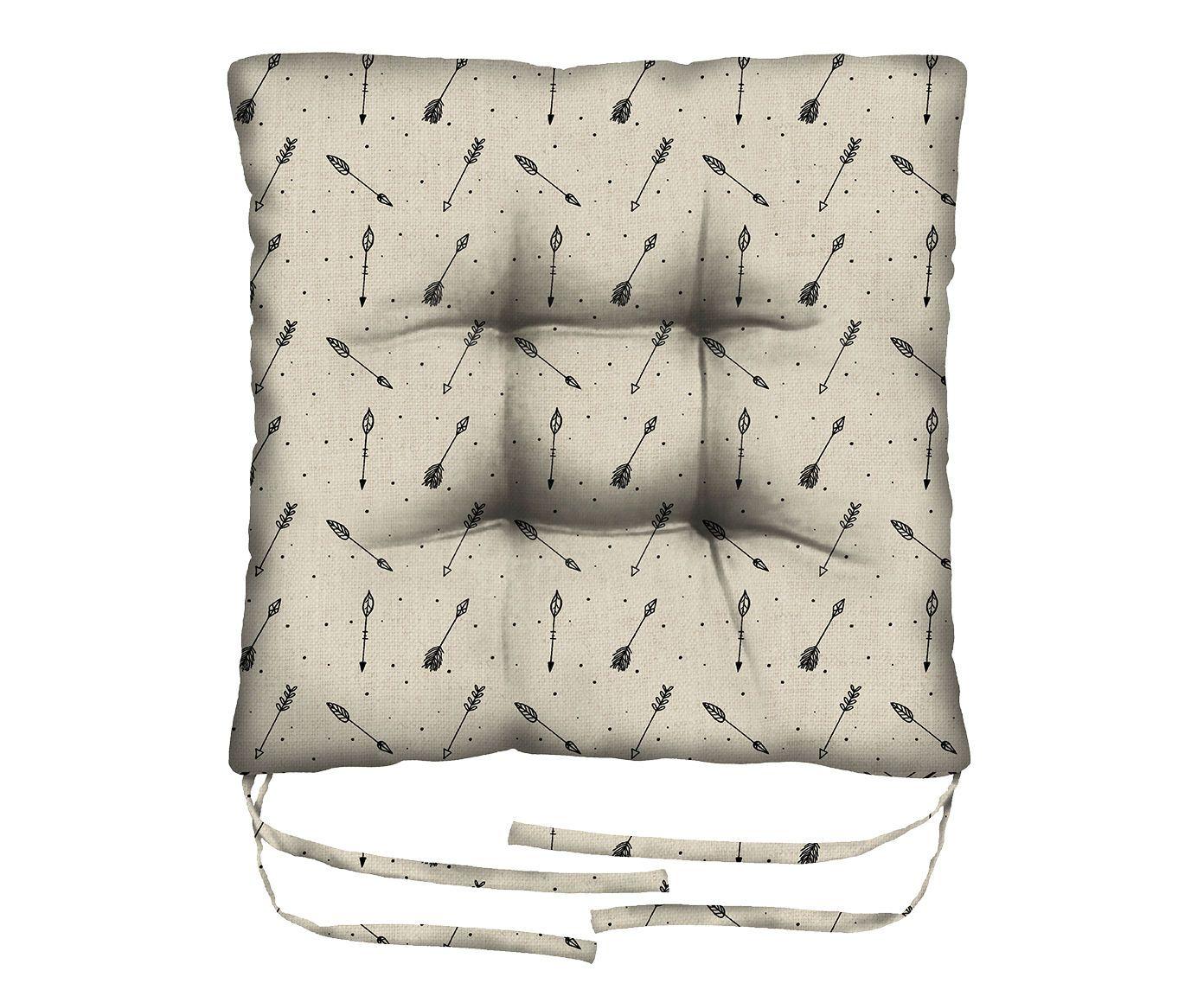 Assento de Cadeira em Linho Misto Borealis - 45X45cm | Westwing.com.br