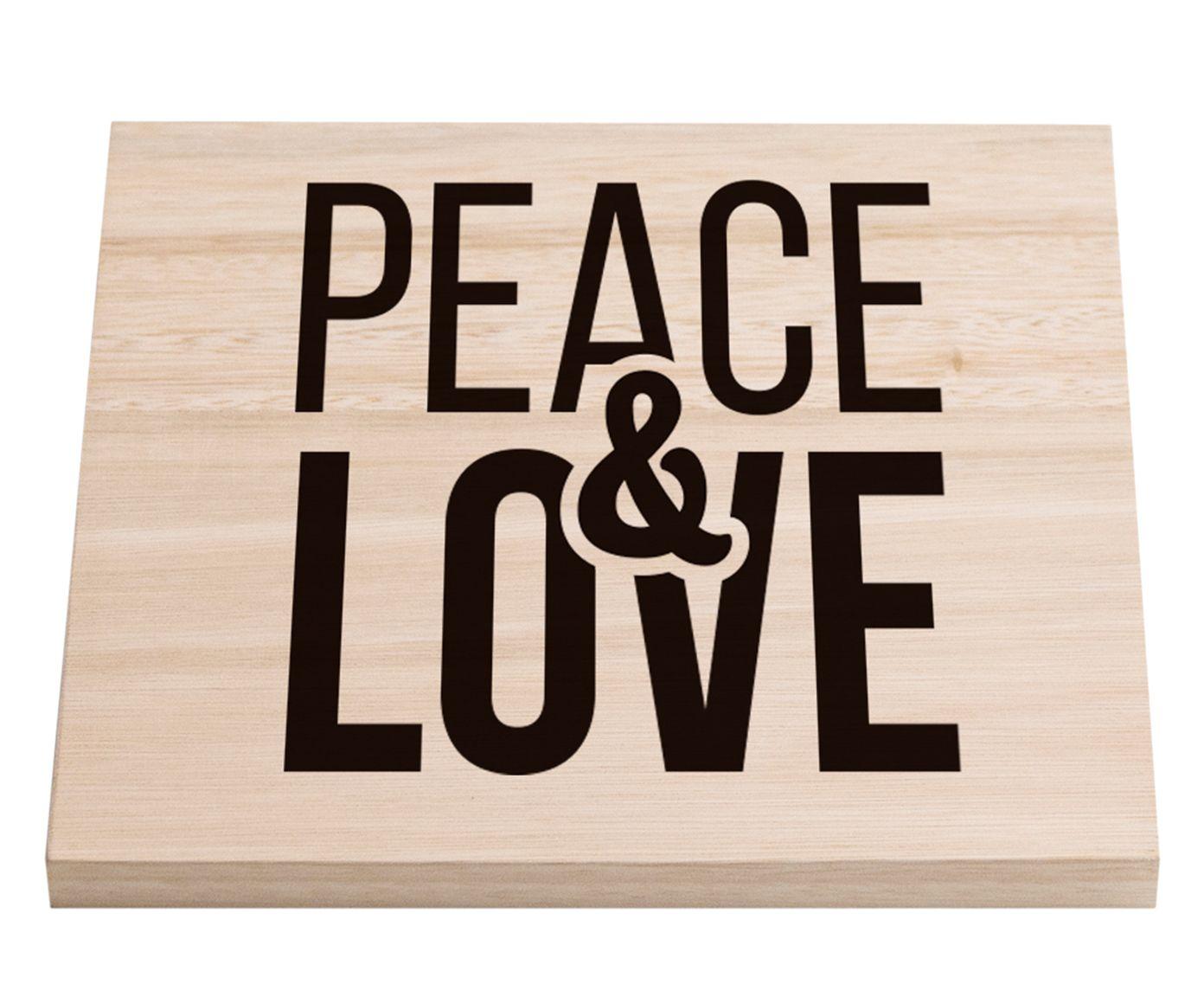 Sousplat em Porcelana Peace Dest - 20X20cm | Westwing.com.br