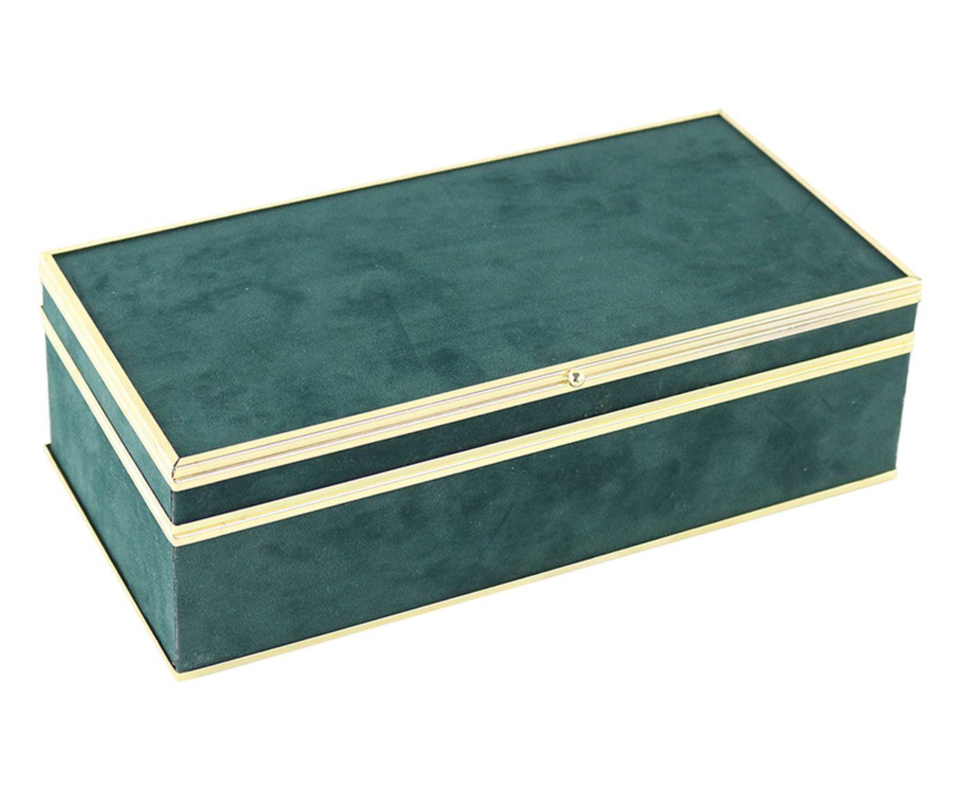 Caixa Decorativa Desi Verde - 28X9X14cm | Westwing.com.br