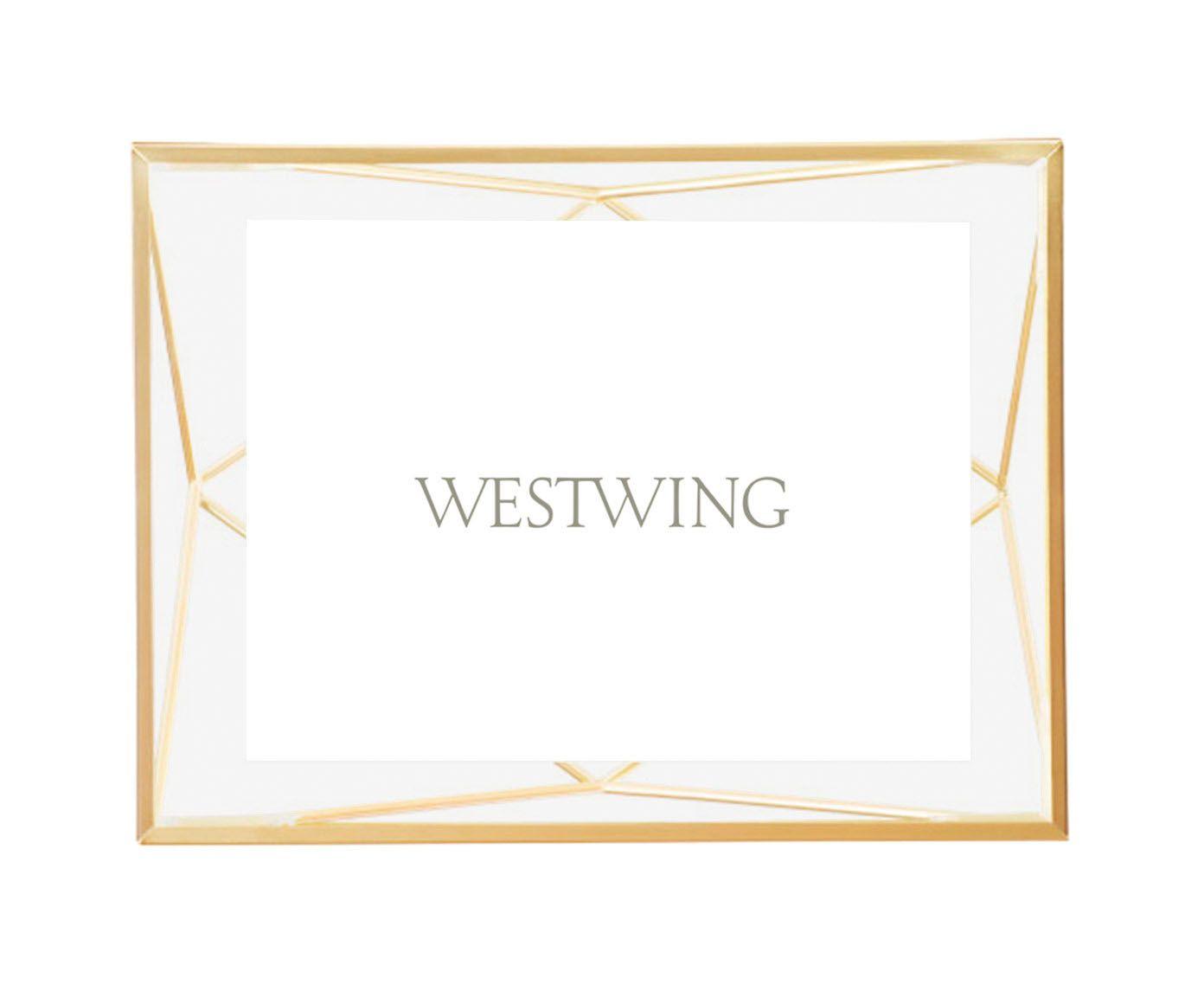 Porta-Retrato Prisma Dourado - Foto 10X15cm | Westwing.com.br