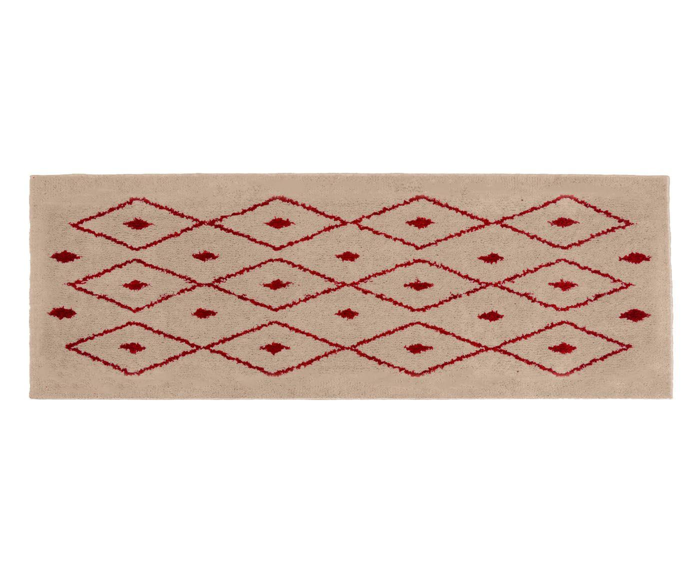 Passadeira Art Kahina Pérola e Rubi - 66X230cm, 66x230cm | Westwing.com.br