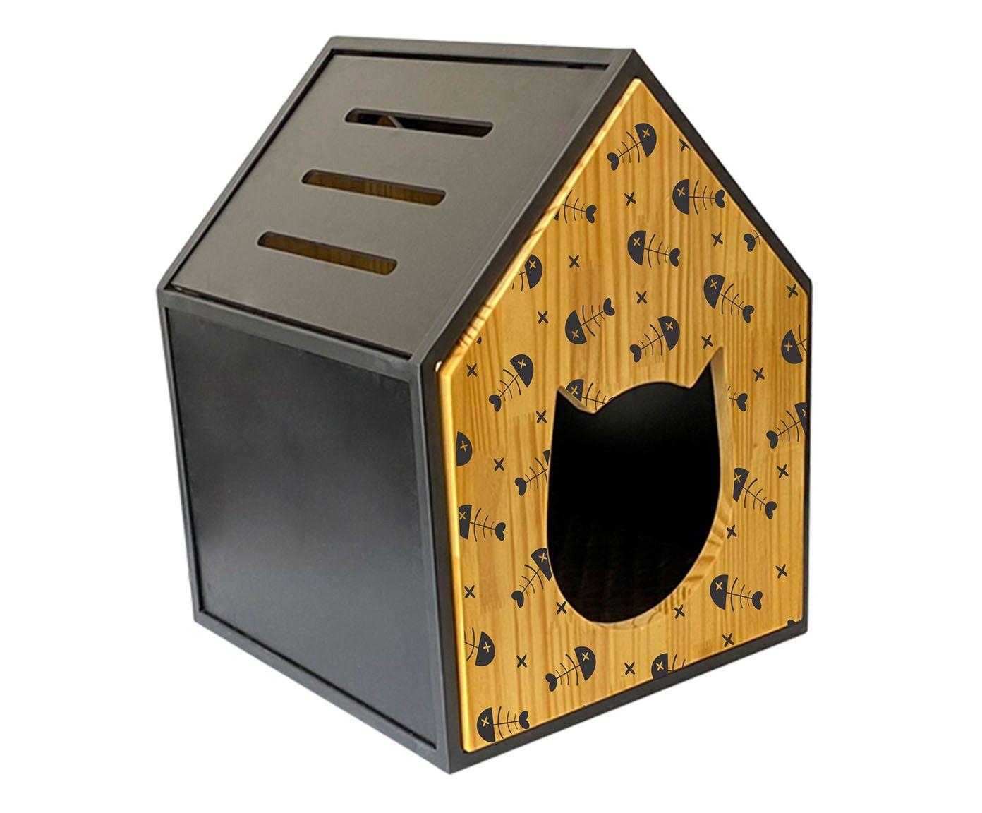 Casa Tom Black Fish - 40X55X40cm | Westwing.com.br