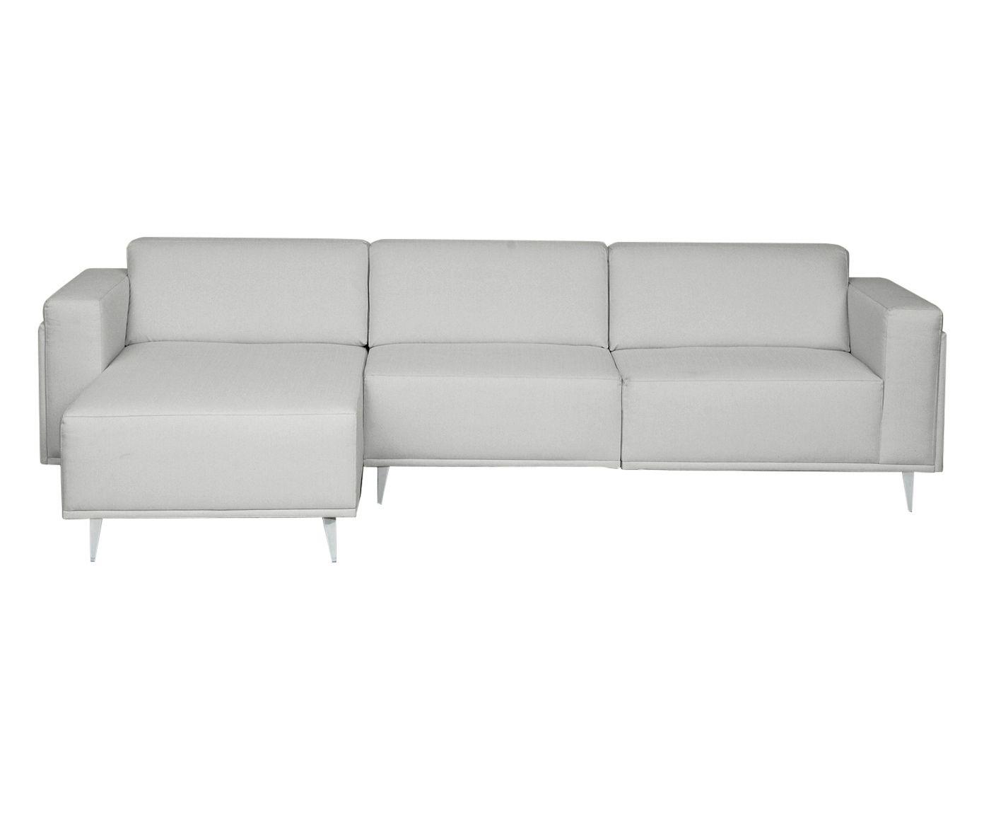 Sofá Modular com Chaise Direita Antonio Cinza Garoa - 280X79X85cm | Westwing.com.br