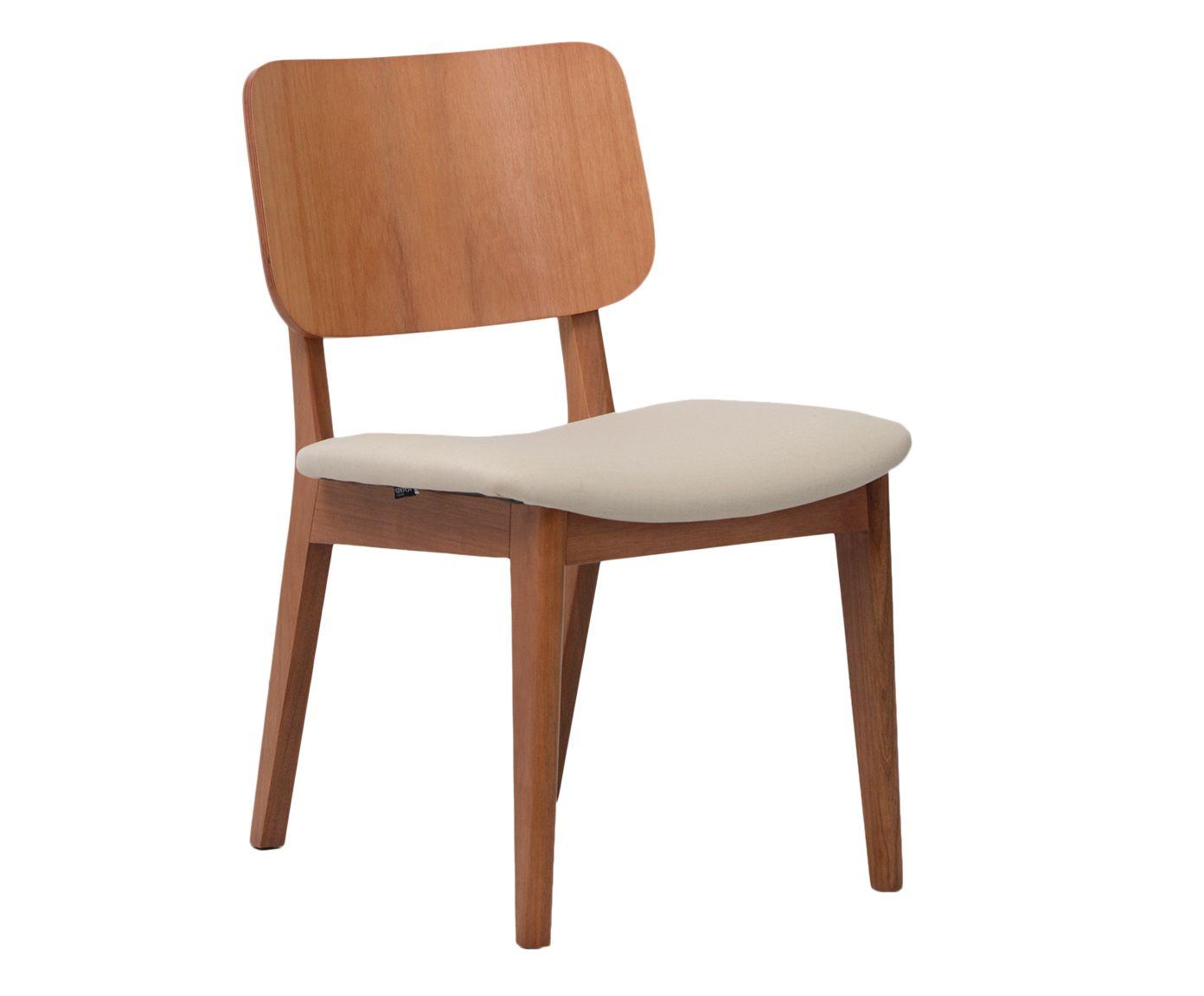 Cadeira com Estofado Jillian Natural - 50X84X58cm | Westwing.com.br
