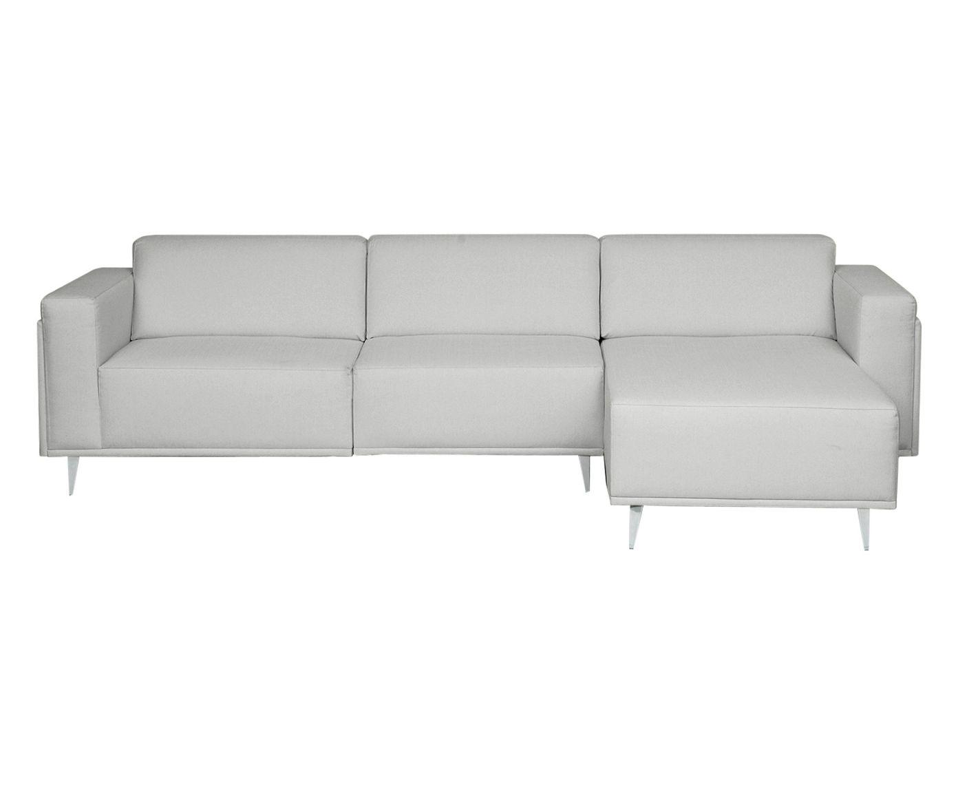 Sofá Modular com Chaise Esquerda Antonio Cinza Garoa - 280cm | Westwing.com.br