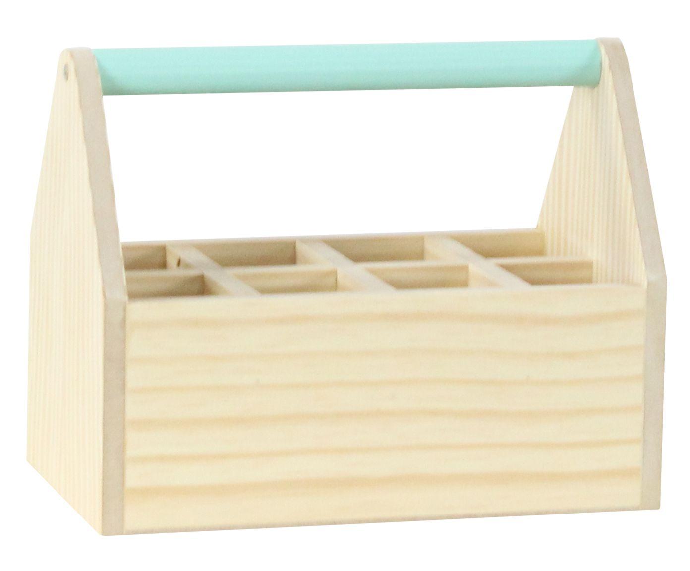 Caixa com Divisórias Olan Verde Celadon - 25X20X15cm   Westwing.com.br