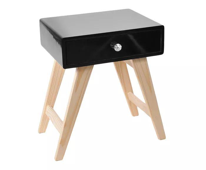 Mesa de Cabeceira Eco Preta - 50X70X34cm | Westwing.com.br