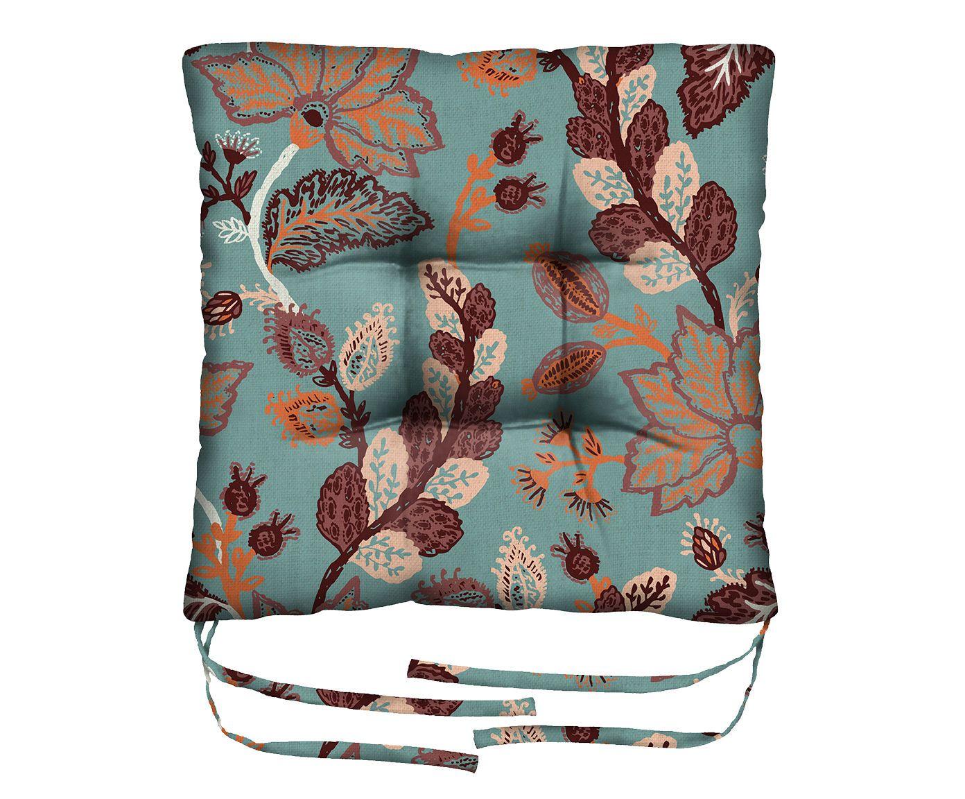Assento de Cadeira em Linho Misto Pisces - 45X45cm | Westwing.com.br