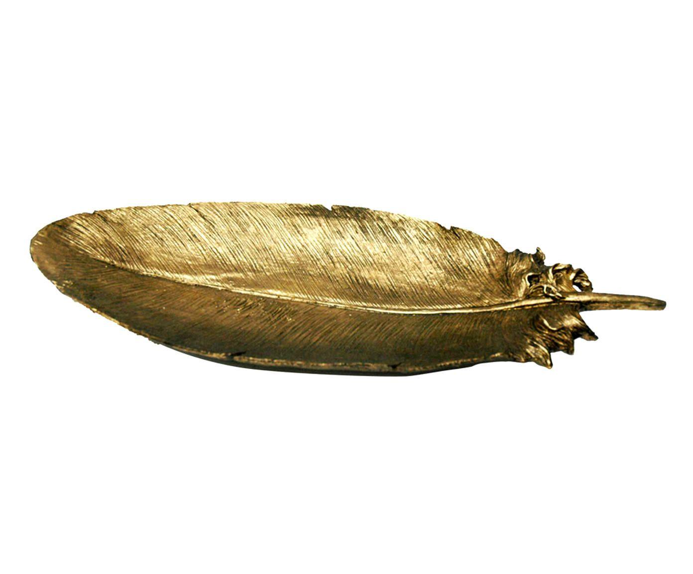 Adorno Pena Leigh Dourado - 47X18X6cm   Westwing.com.br