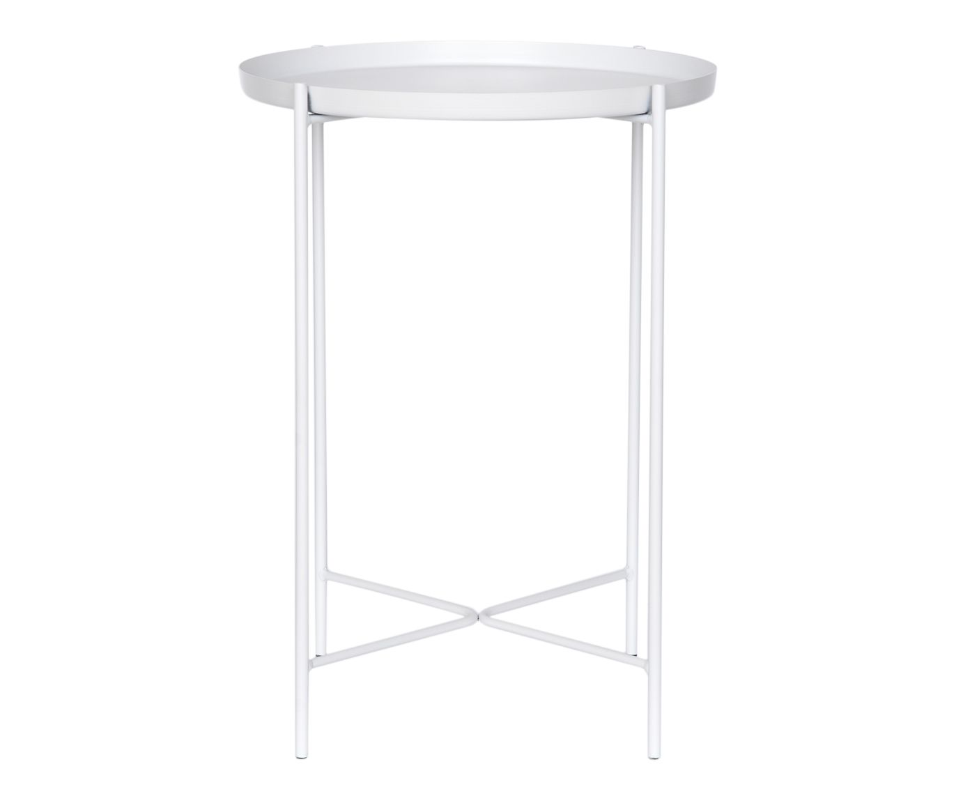 Mesa Lateral Chelly Branca - 56X42cm | Westwing.com.br