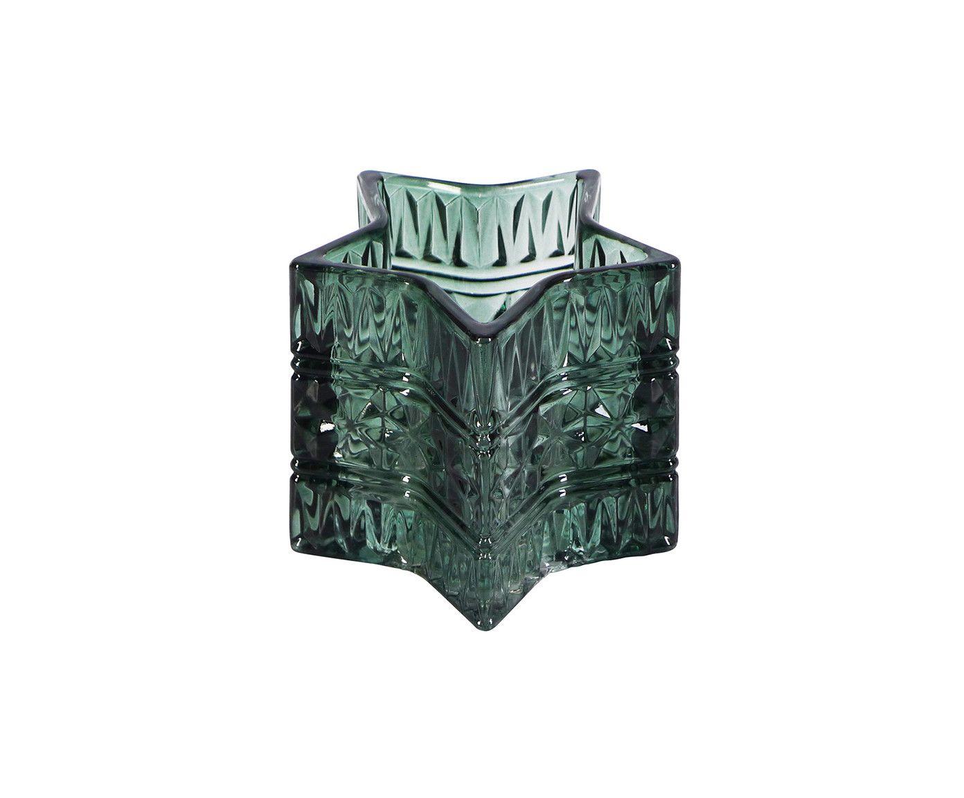 Porta Vela Estrela Verde - 9X9,8X8cm | Westwing.com.br