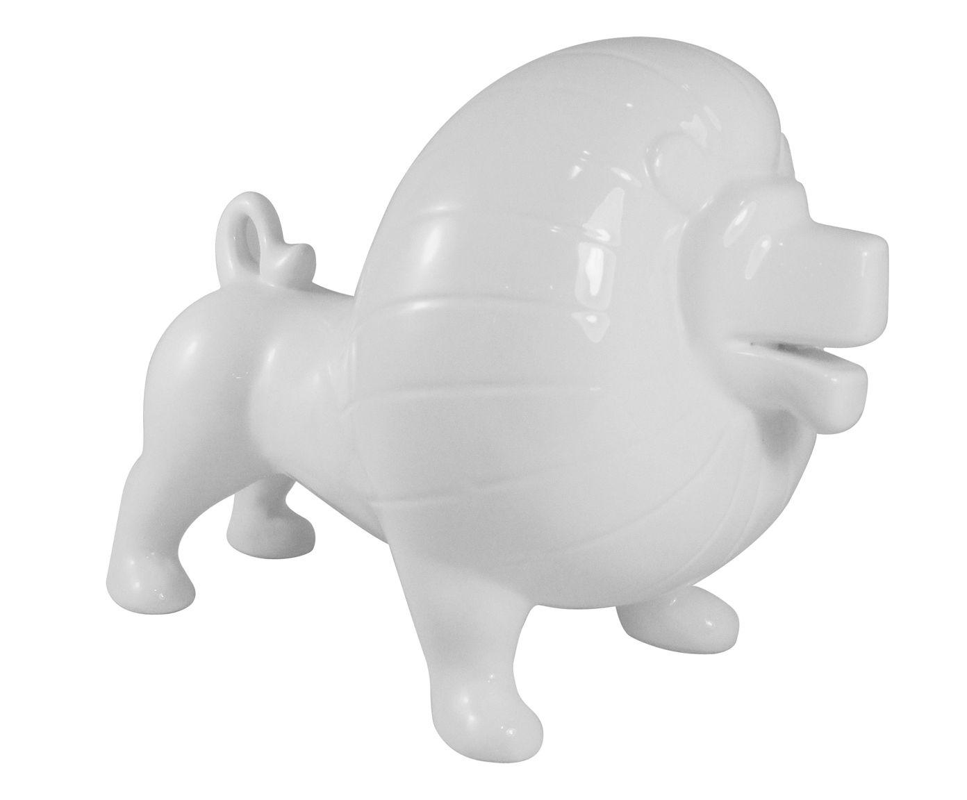 Adorno Leão Branco - 29X22X18cm | Westwing.com.br