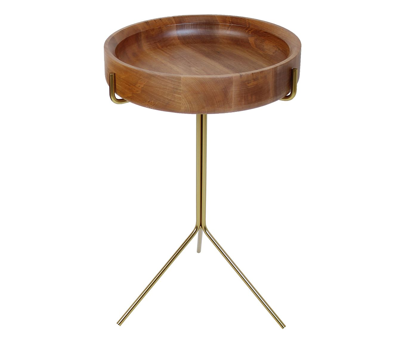 Mesa Lateral Live Marrom Claro - 56X38cm | Westwing.com.br