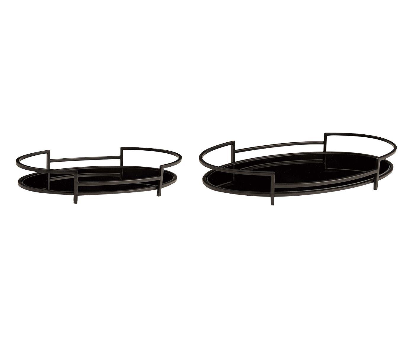 Jogo de Bandejas Decorativas Pillar - 40,5X6X24,5cm | Westwing.com.br