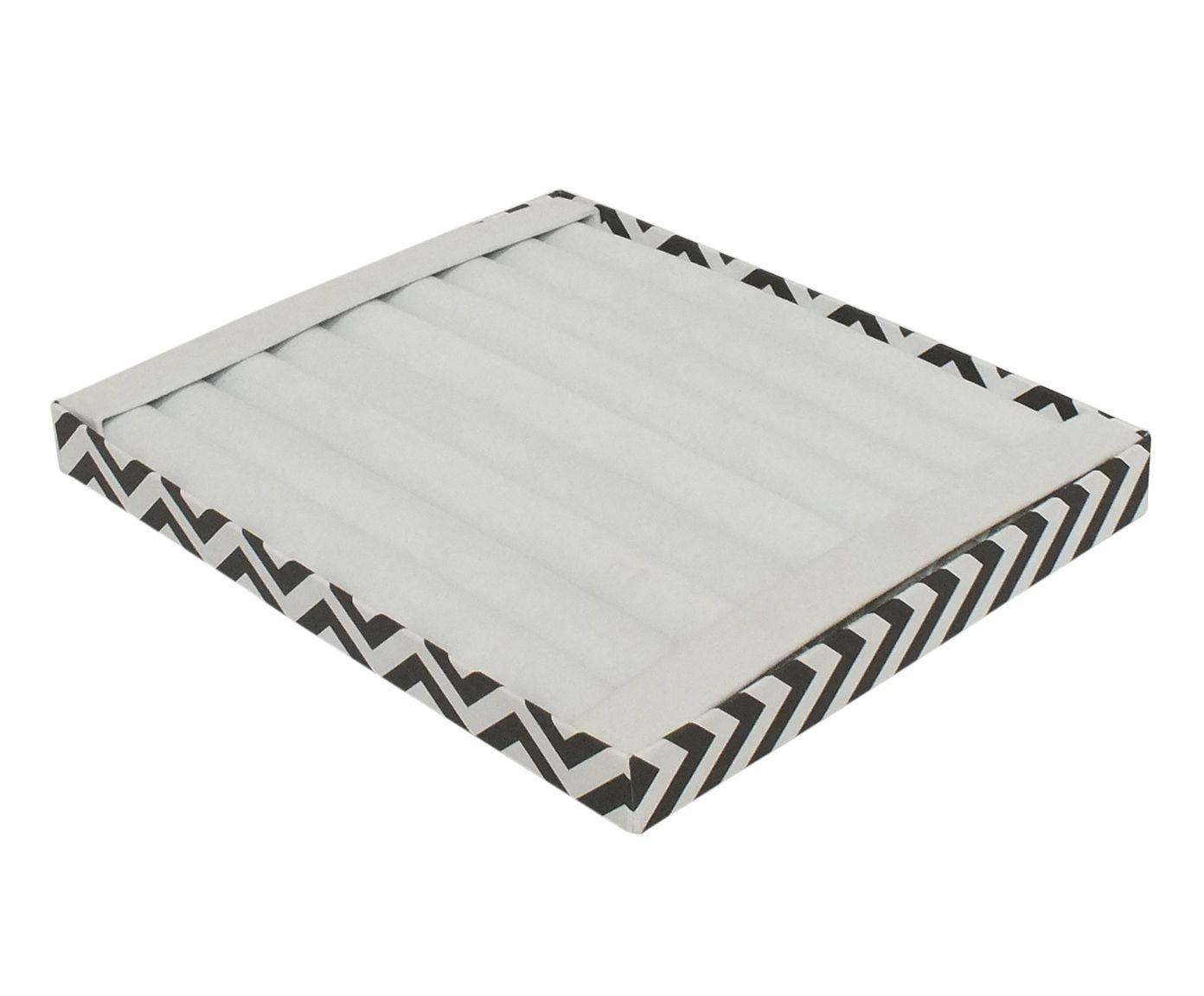 Bandeja Organizadora para Anéis Renan Branca - 31X3,5X26cm | Westwing.com.br