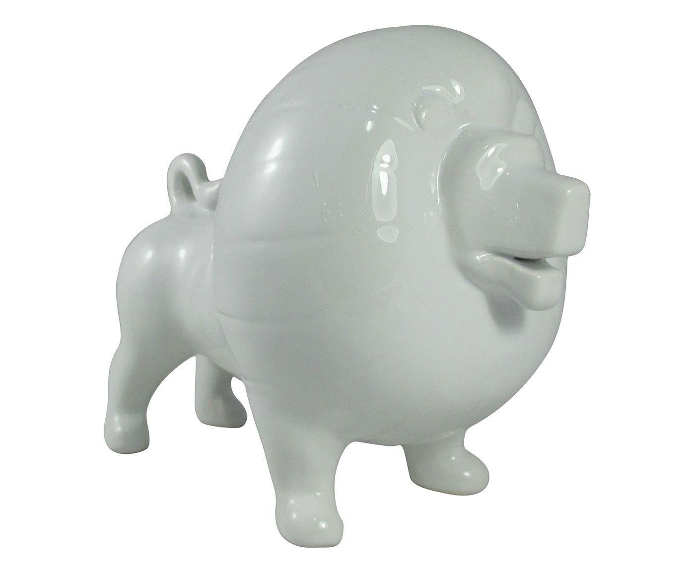 Adorno Leão Branco - 20X17cm | Westwing.com.br