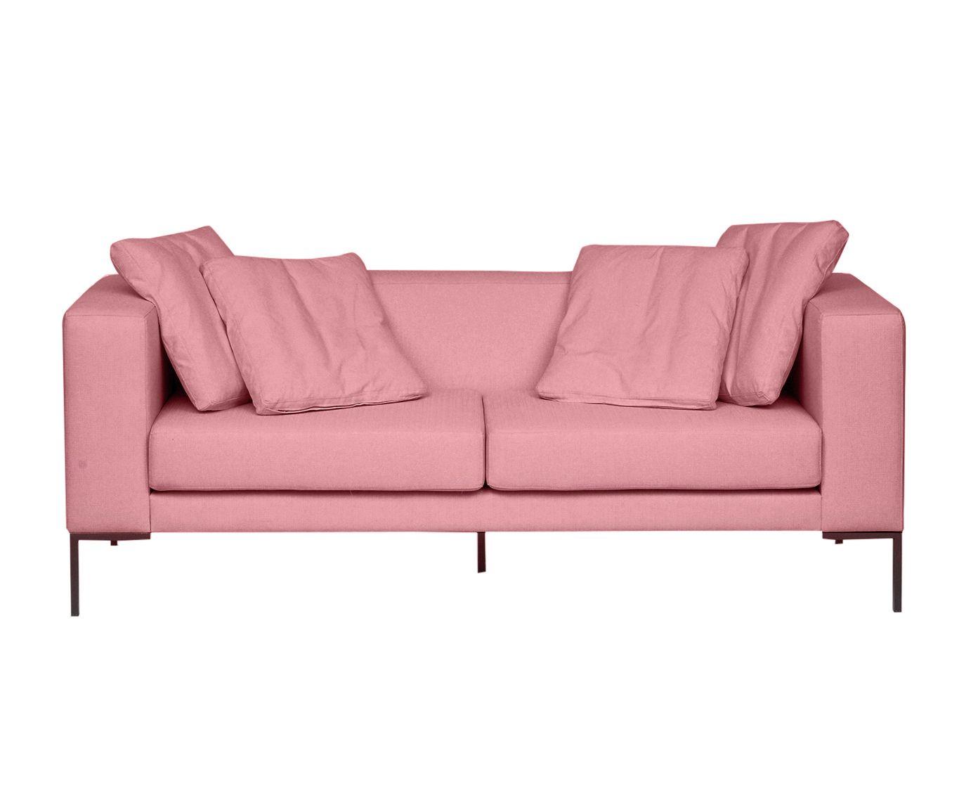 Sofá Pietro Rosa Flamingo - 180X80X82cm | Westwing.com.br