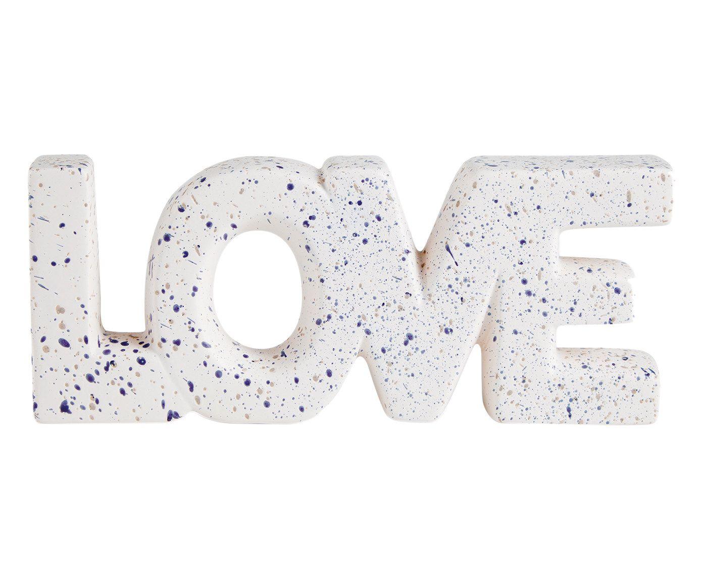Adorno de Parede Love Branco - 11X27cm   Westwing.com.br