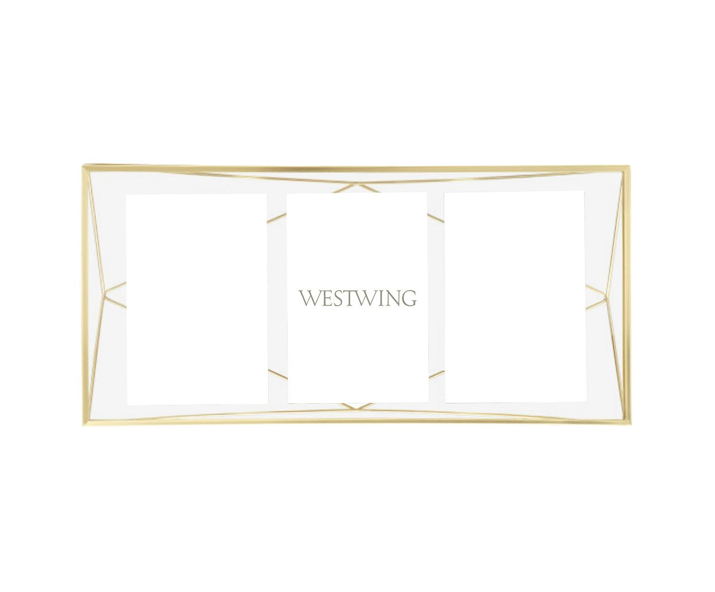 Porta-Retrato Prisma Dourado - 23X49cm | Westwing.com.br