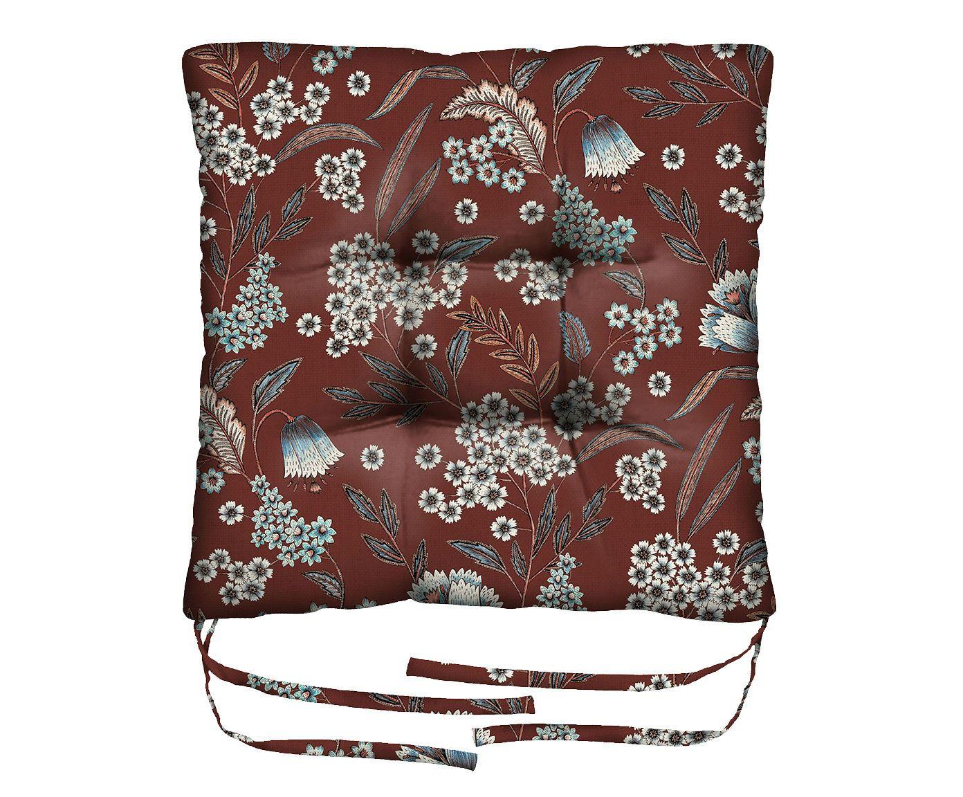 Assento de Cadeira em Linho Misto Canes Venatici - 45X45cm   Westwing.com.br