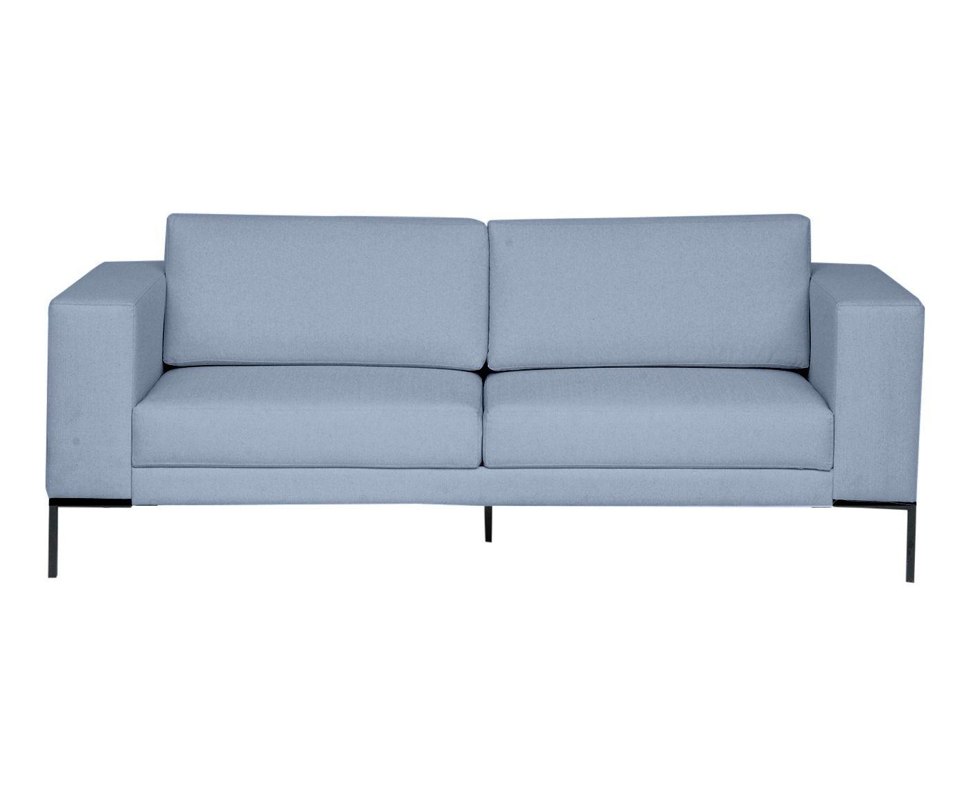 Sofá em Linho Otto Azul Nuvem - 210X83X85cm | Westwing.com.br