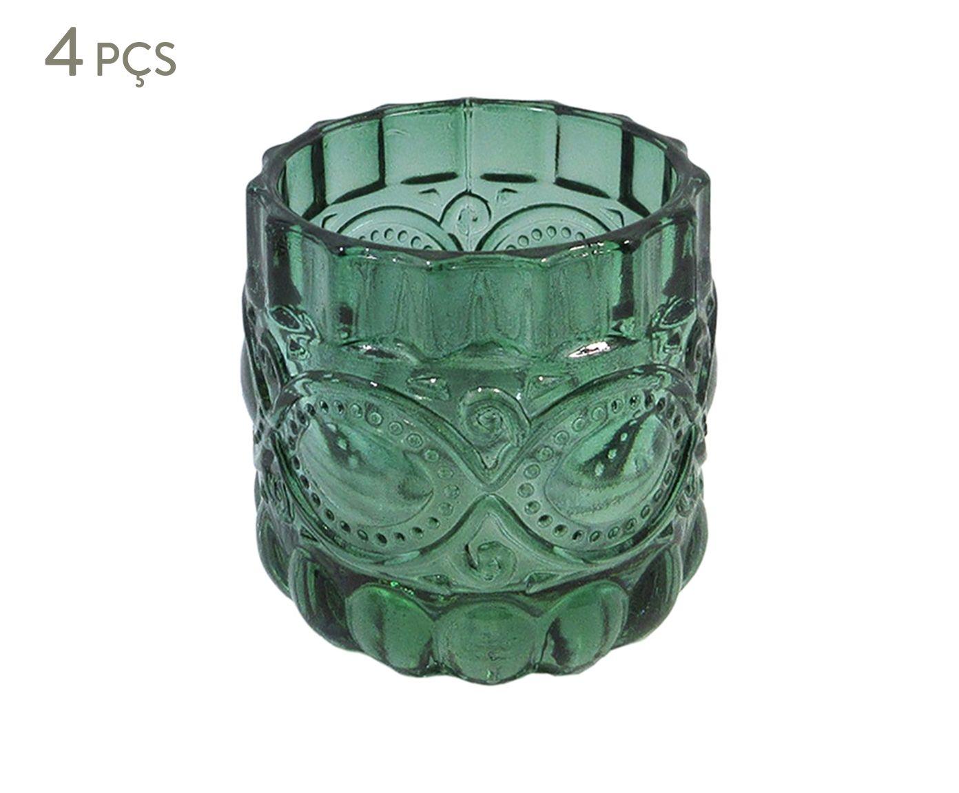 Jogo de Porta-Velas Ruby Verde - 6,5cm | Westwing.com.br