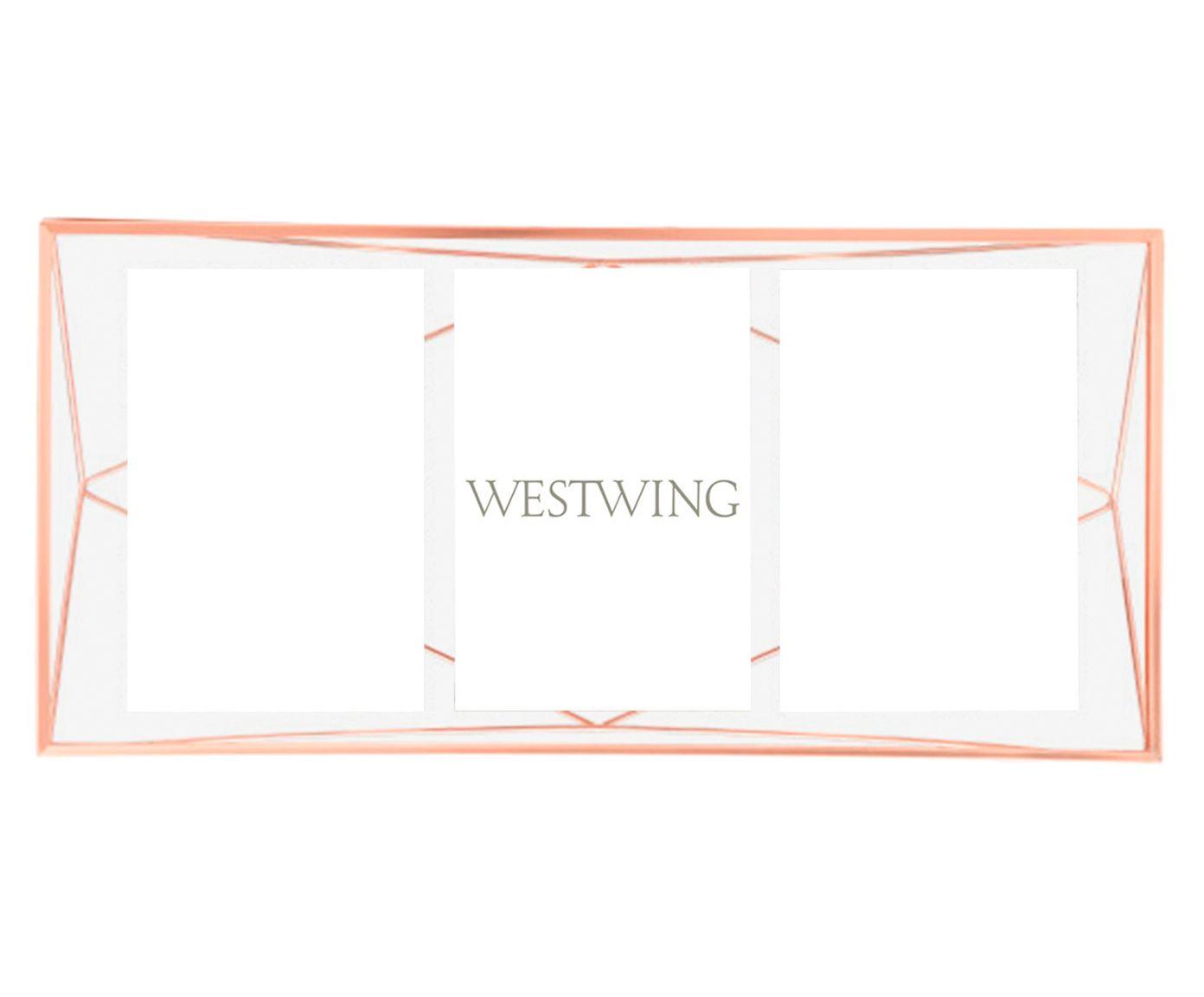 Porta-Retrato Prisma Acobreado - 49X23cm   Westwing.com.br