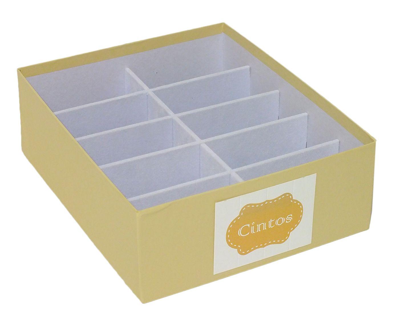 Caixa Organizadora para Cintos Tag Nola Bege - 30X10X25cm | Westwing.com.br