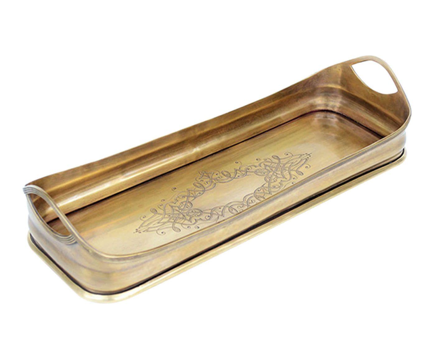 Bandeja Decorativa Gold - 44X5X14cm | Westwing.com.br
