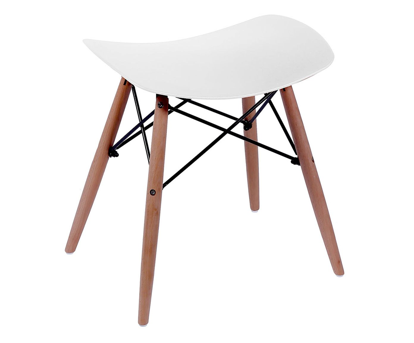 Banquinho Eames Wood Branco - 49X47cm | Westwing.com.br