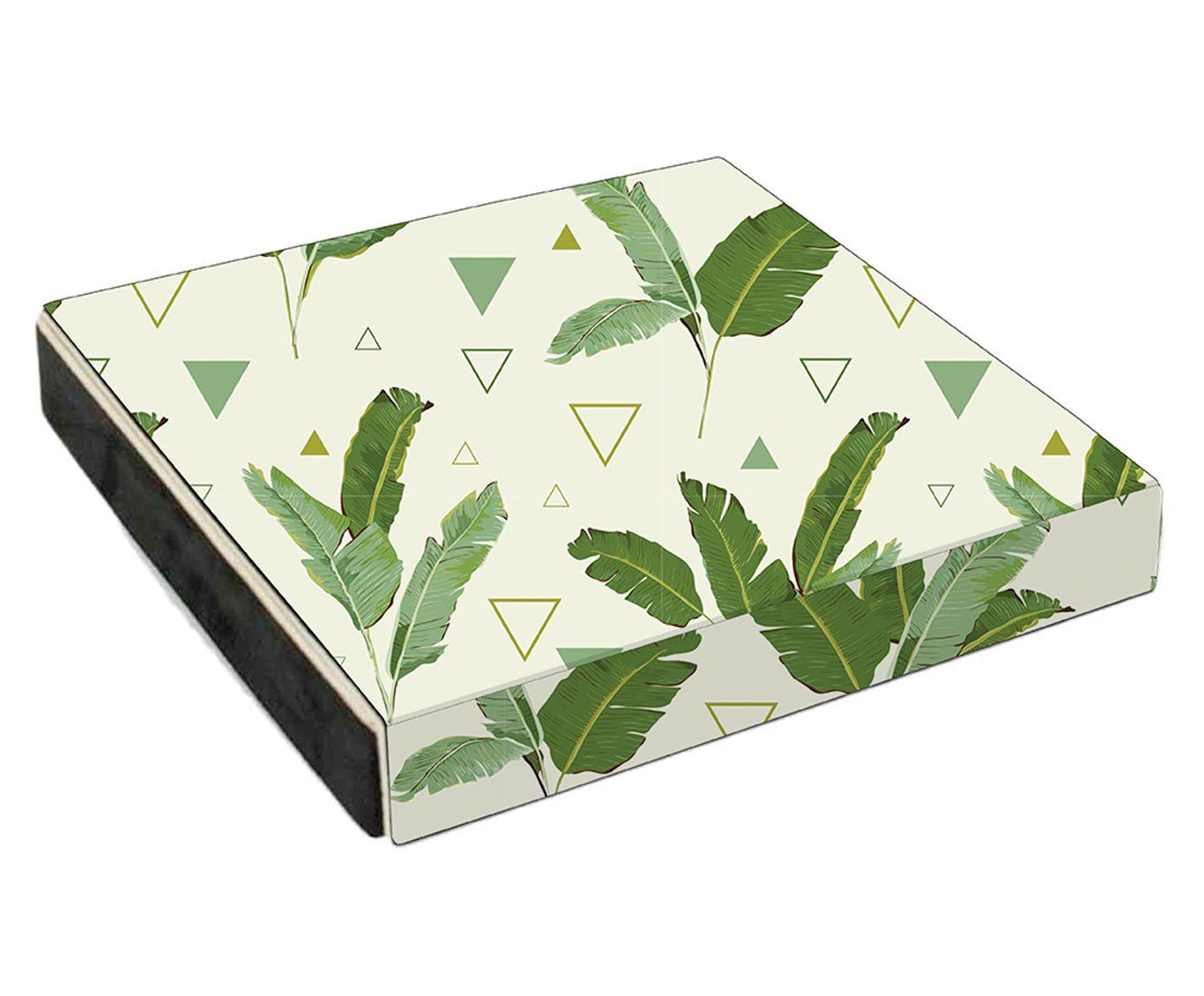 Estojo Organizador para Óculos Triangulos e Folhas Verde - 35X5X32cm | Westwing.com.br