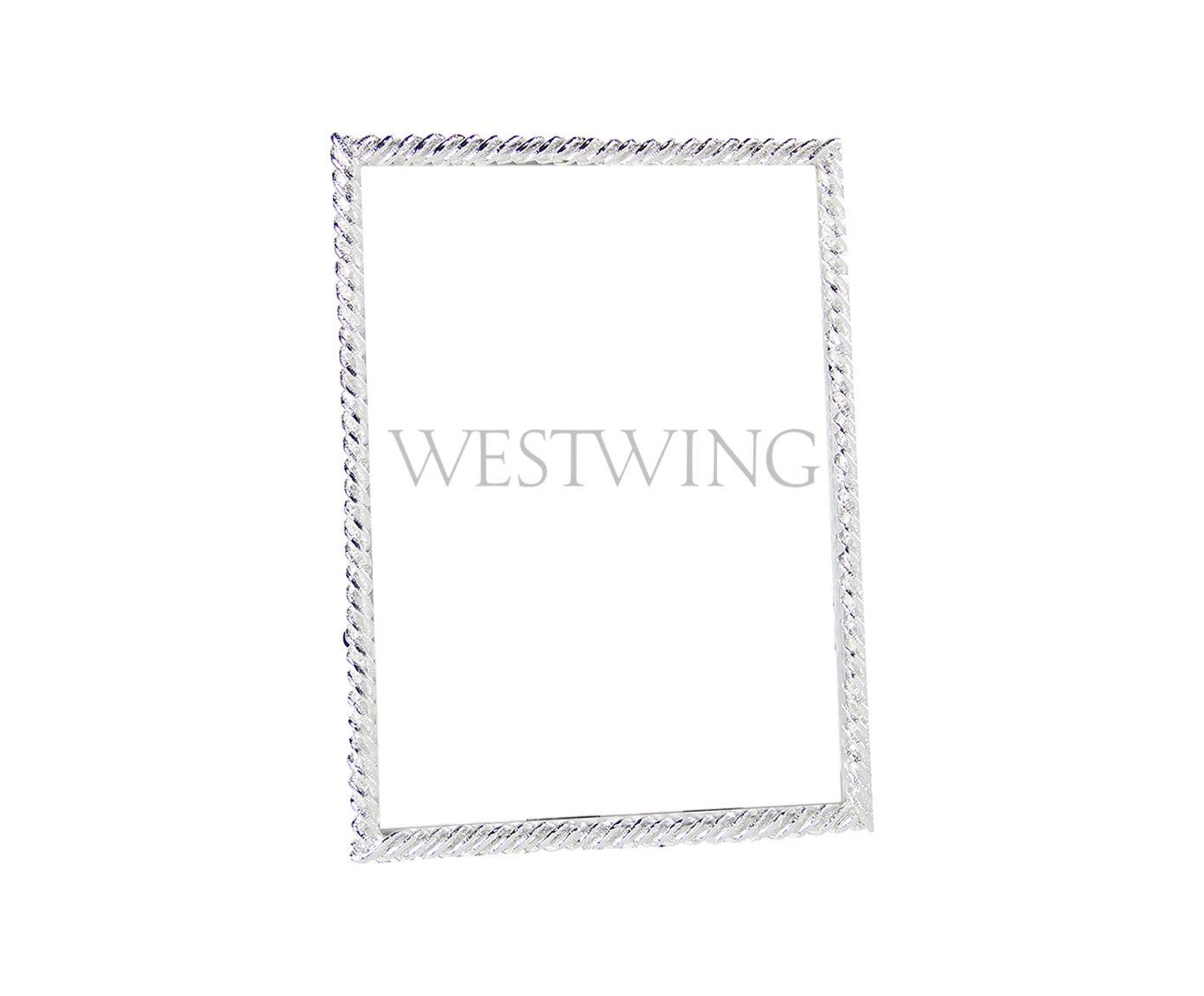 Porta-Retrato Hanâni Prateado - 11,5X16,5cm | Westwing.com.br