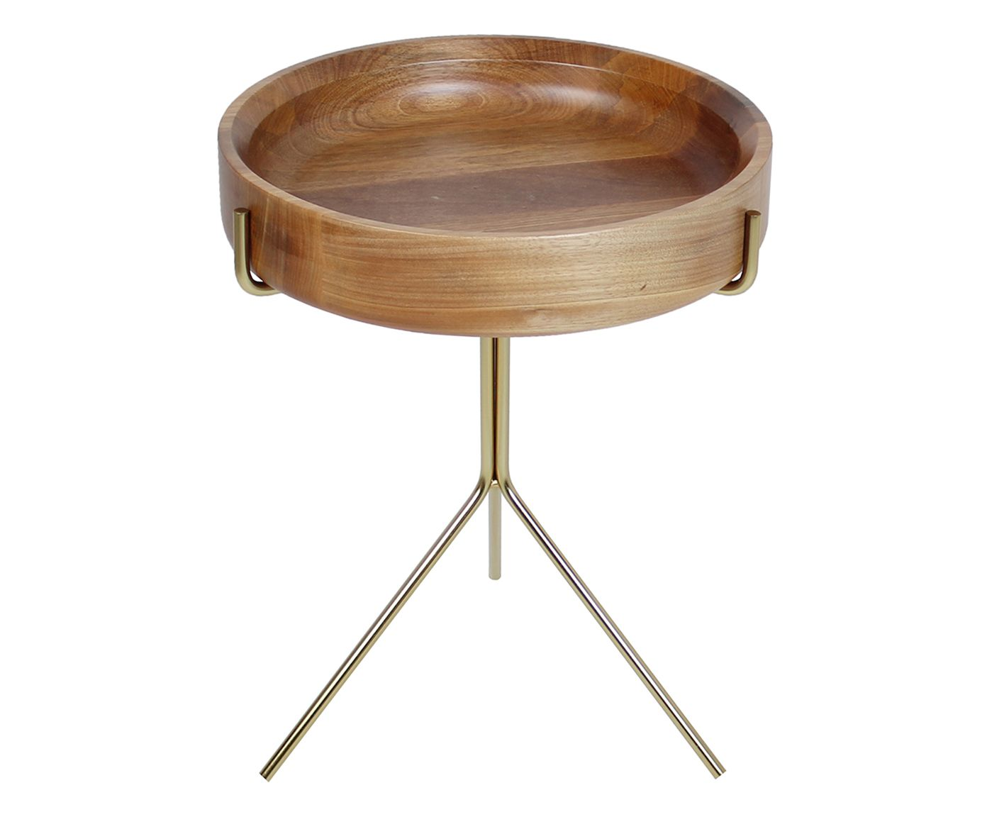 Mesa Lateral Live Marrom Claro - 43X38cm   Westwing.com.br