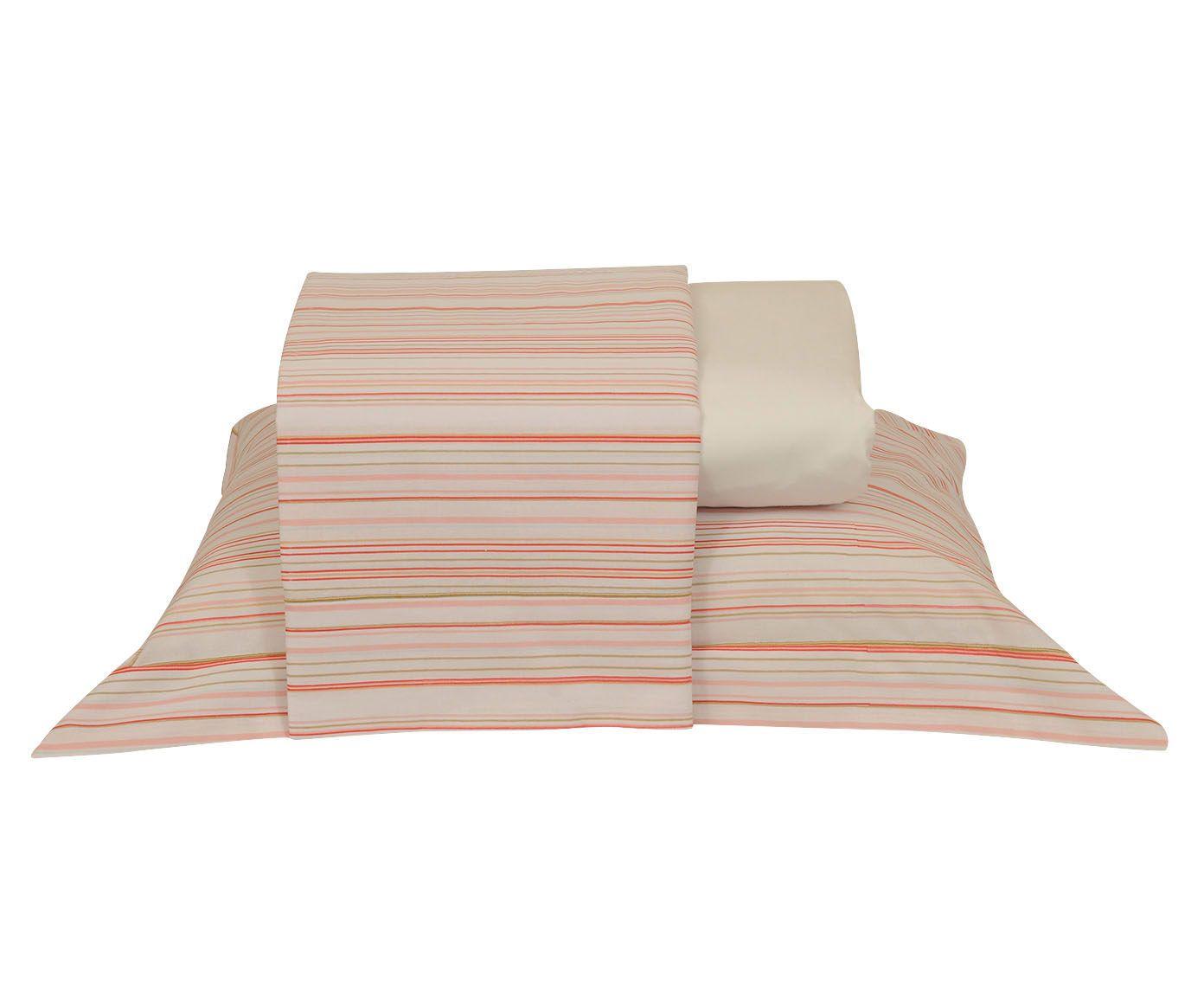 Jogo de lençol versatt stripes para cama king size 150 fios- ritz | Westwing.com.br