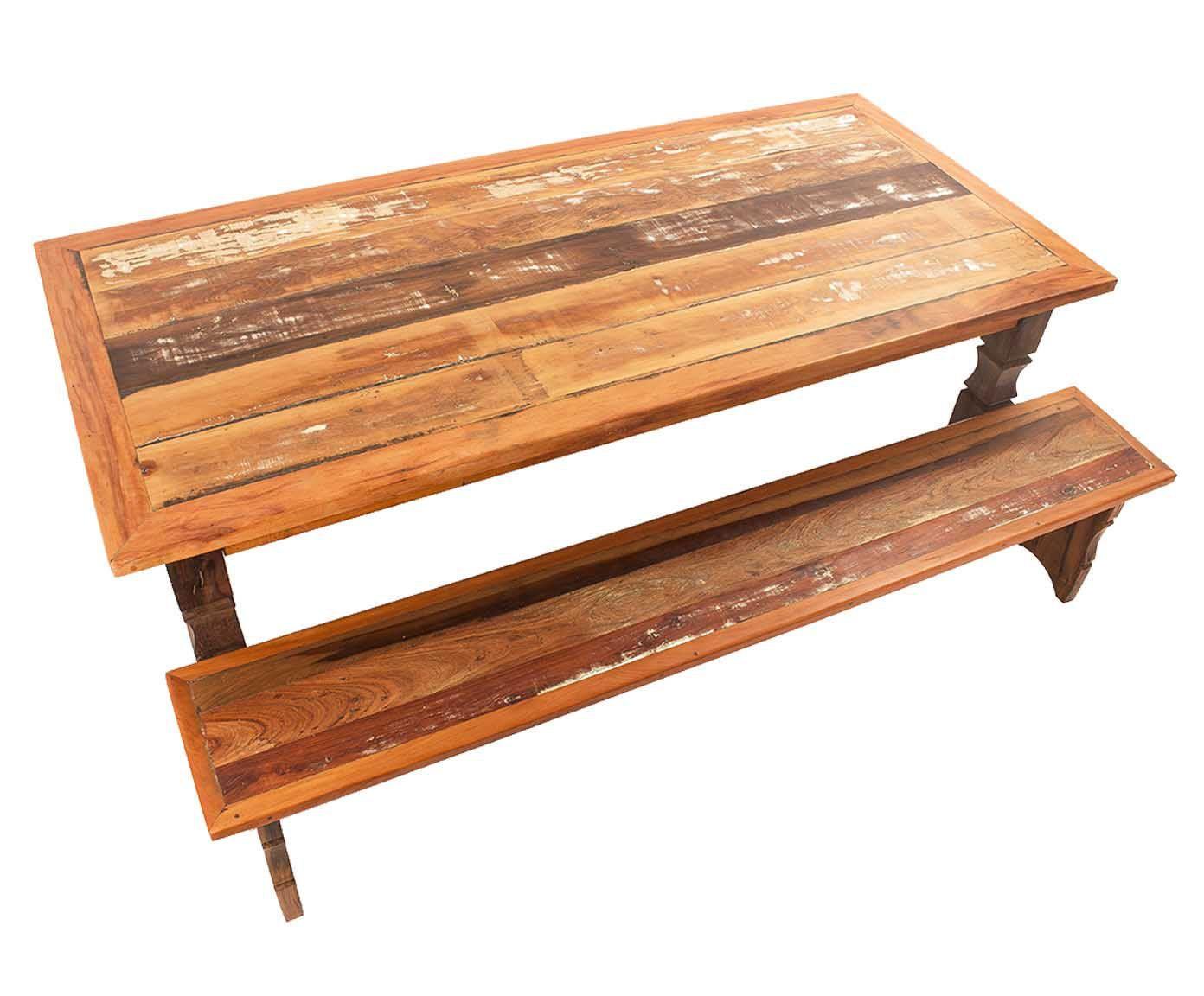 Mesa com bancos quartzo | Westwing.com.br