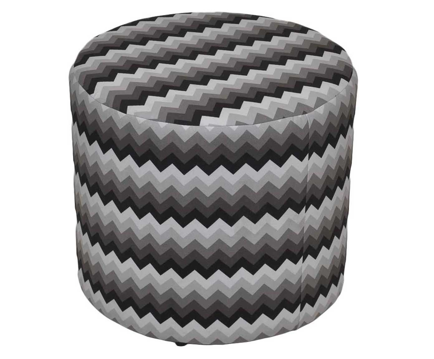 Pufe zig zag - nuit mist   Westwing.com.br