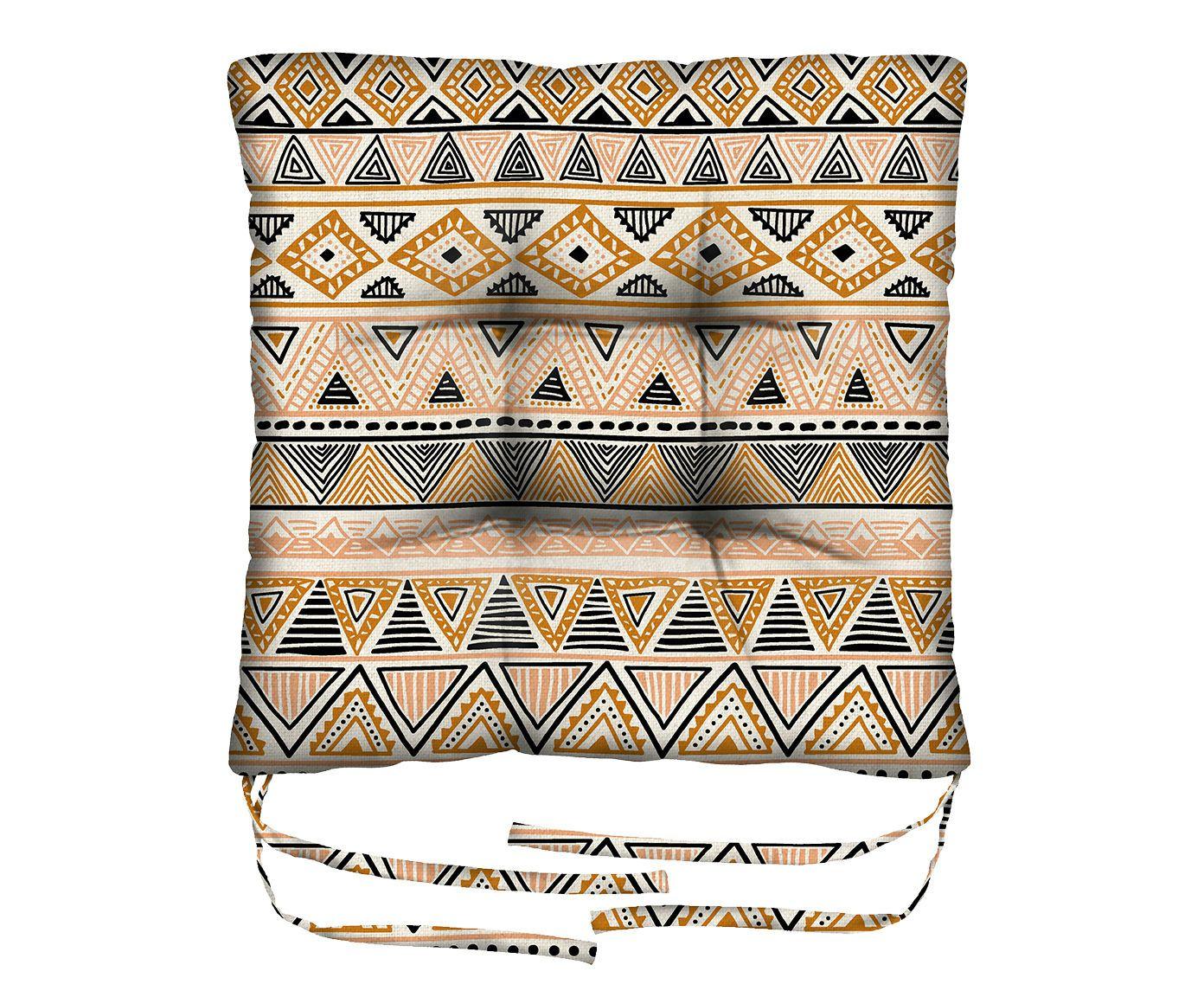Assento de Cadeira em Linho Misto Triangulum Australe - 45X45cm | Westwing.com.br