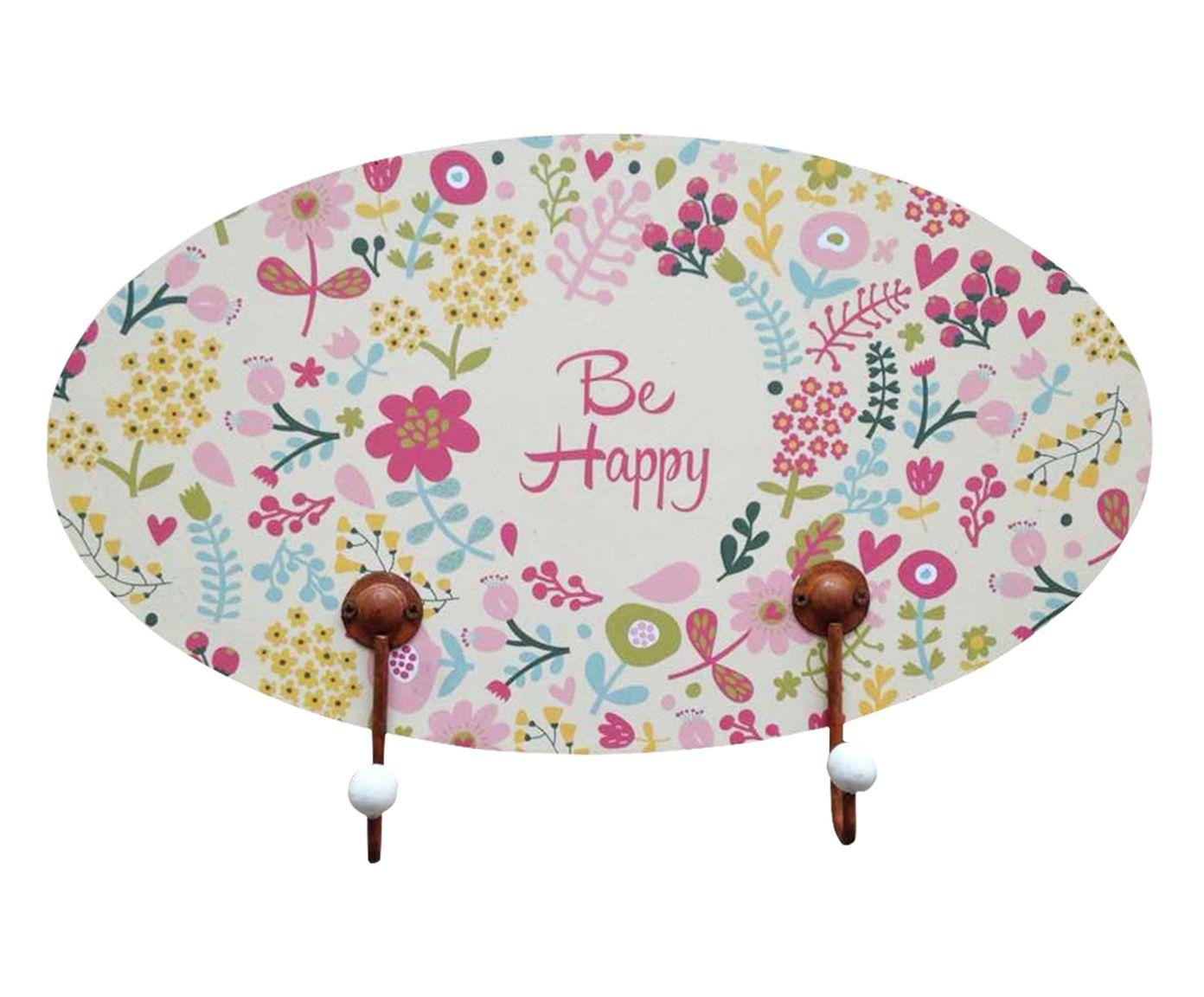 Cabideiro Romance Be Happy - 30X17X0,8cm   Westwing.com.br