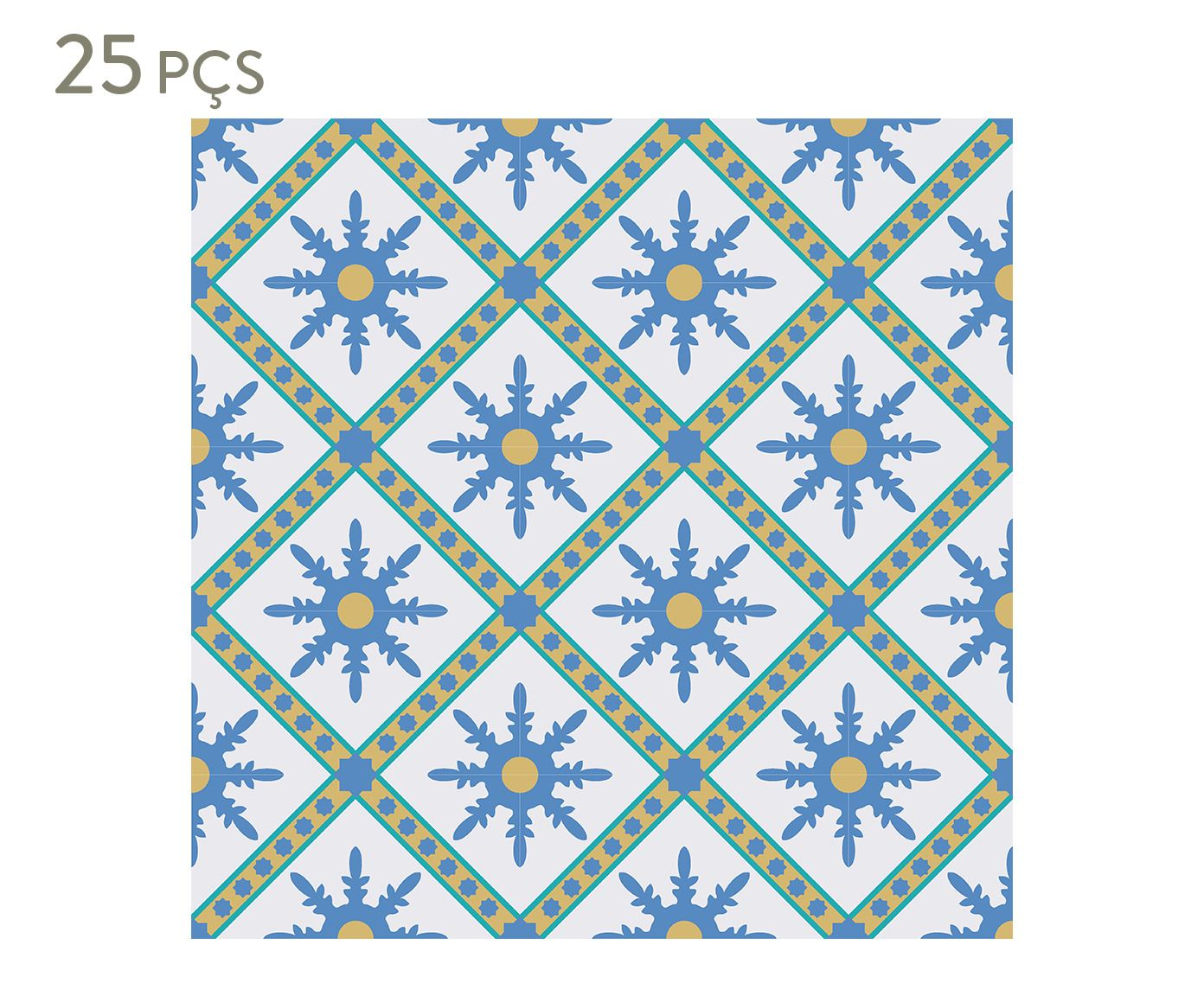 Conjunto de ladrilhos adesivos petris - 15 cm   Westwing.com.br