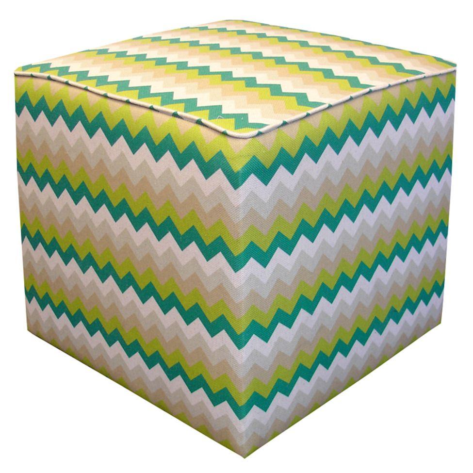 Pufe zig-zag square - alecrim | Westwing.com.br
