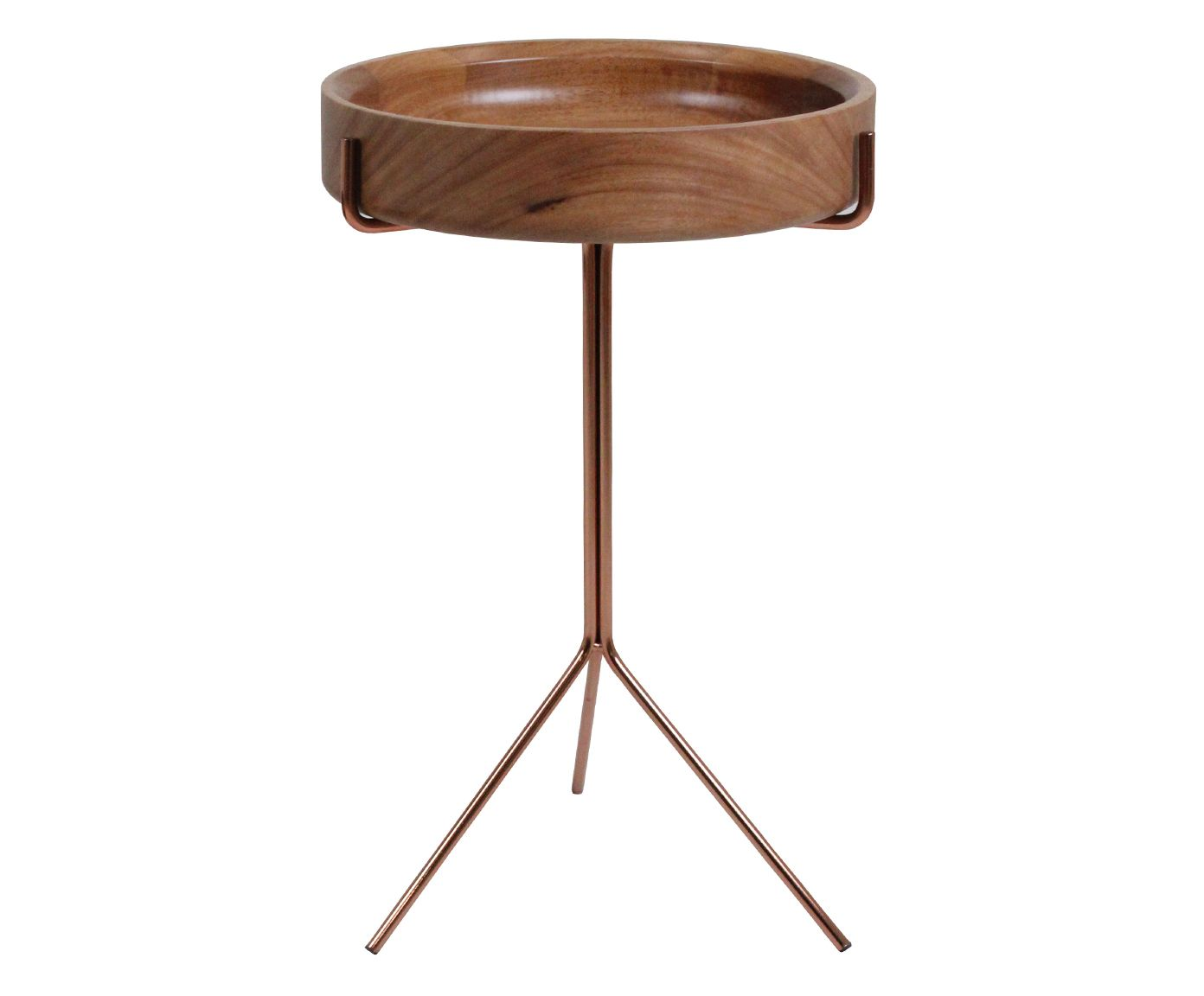 Mesa Lateral Live Marrom - 56X38cm | Westwing.com.br