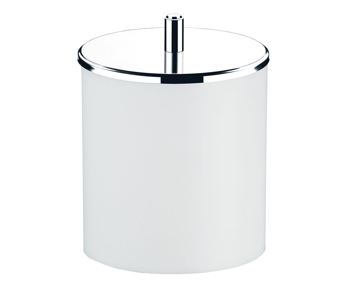 Lixeira em Inox Bolvadin Branca - 19cm | Westwing.com.br