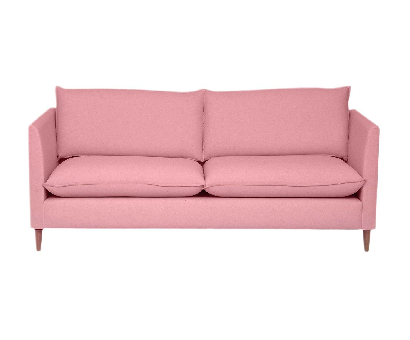 Sofá Nina Rosa Flamingo - 180X84X82cm   Westwing.com.br